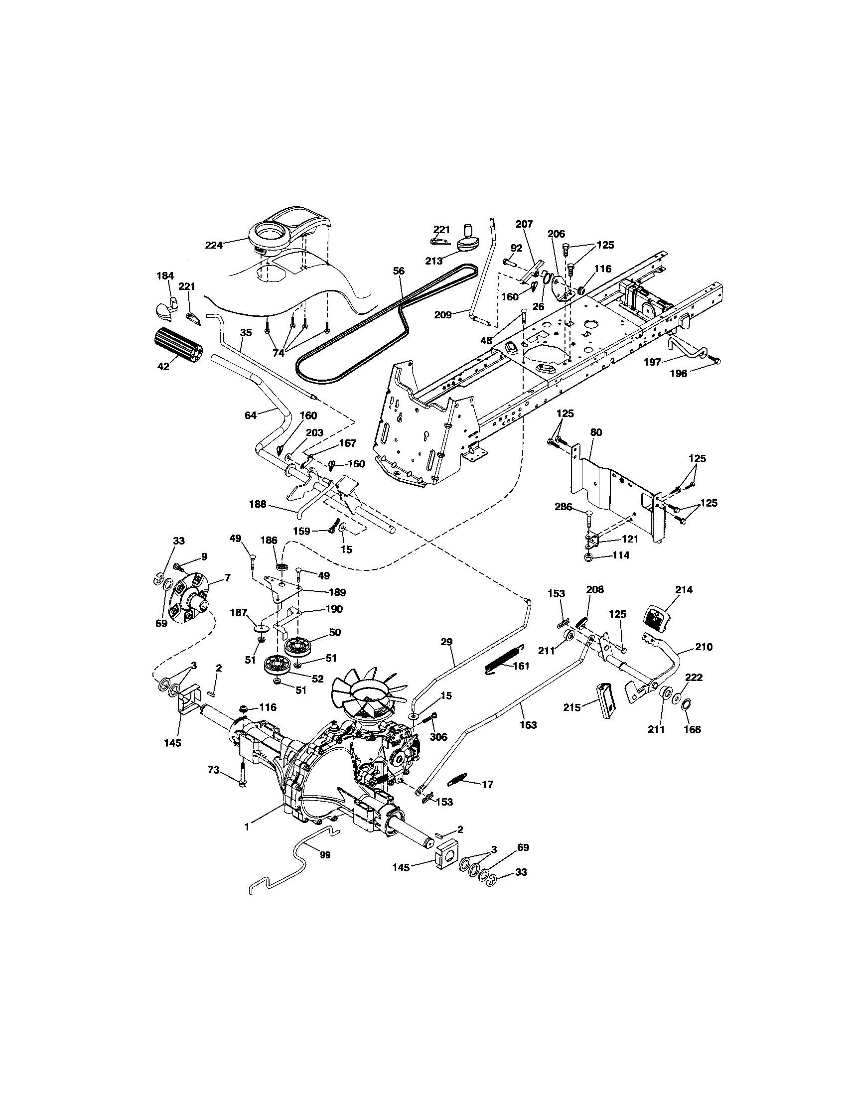 Craftsman Tractor Parts Diagram 917 Craftsman 26 Hp 54 Inch Automatic Garden Tractor Of Craftsman Tractor Parts Diagram