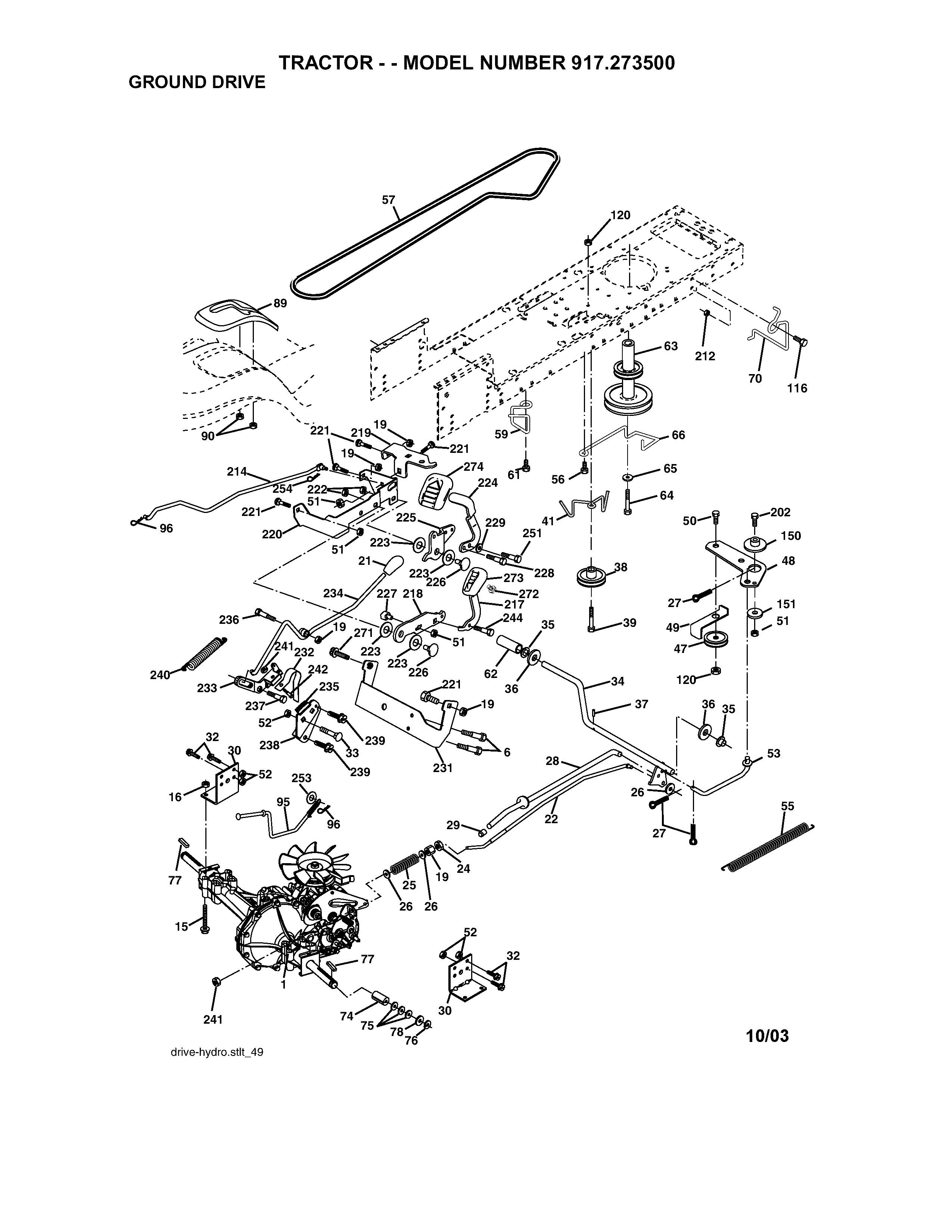 Craftsman Tractor Parts Diagram 917 Craftsman Lawn Tractor 16 5 Hp 42 In Mower Of Craftsman Tractor Parts Diagram