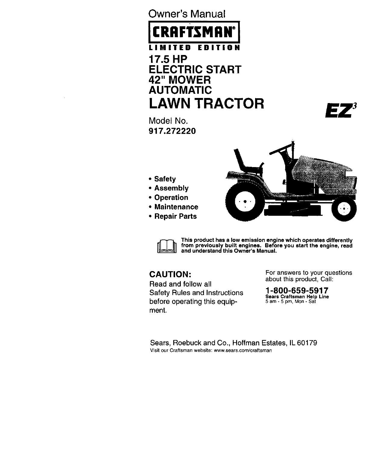 Craftsman Tractor Parts Diagram Craftsman User Manual Lawn Tractor Manuals and Of Craftsman Tractor Parts Diagram
