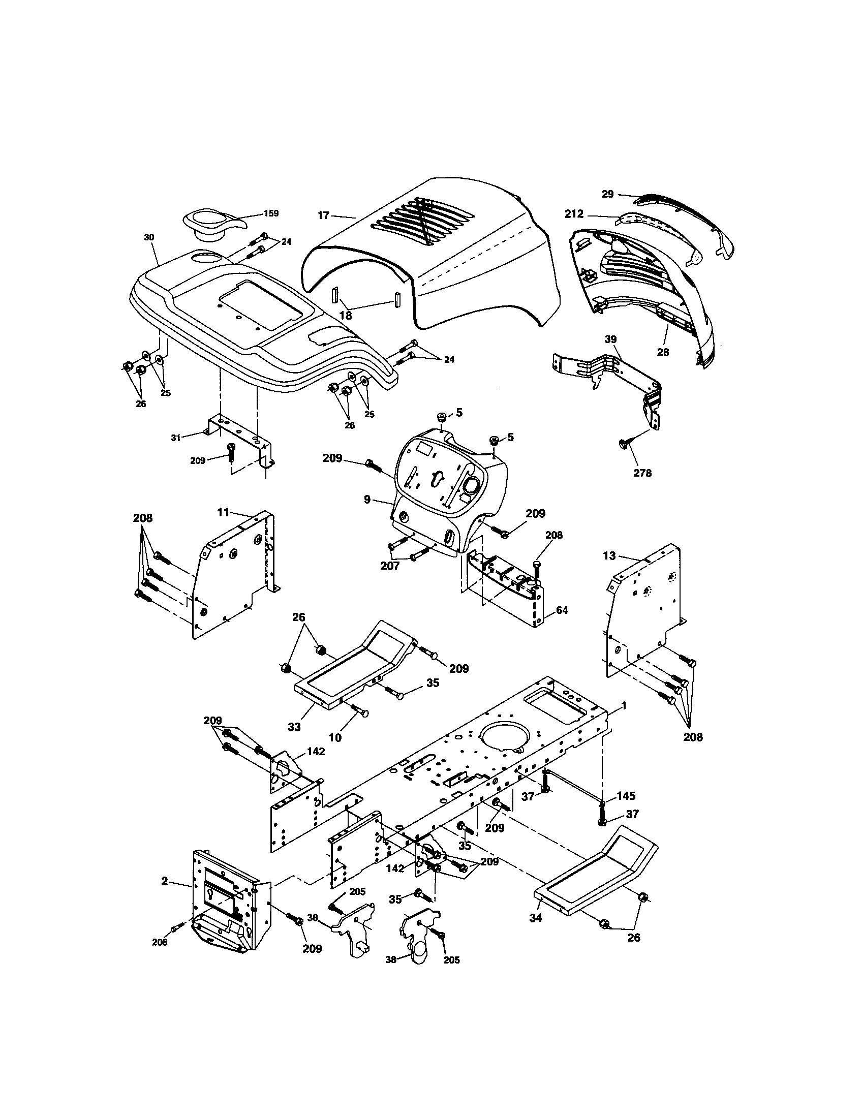 Craftsman Tractor Parts Diagram Looking for Craftsman Model Front Engine Lawn Of Craftsman Tractor Parts Diagram