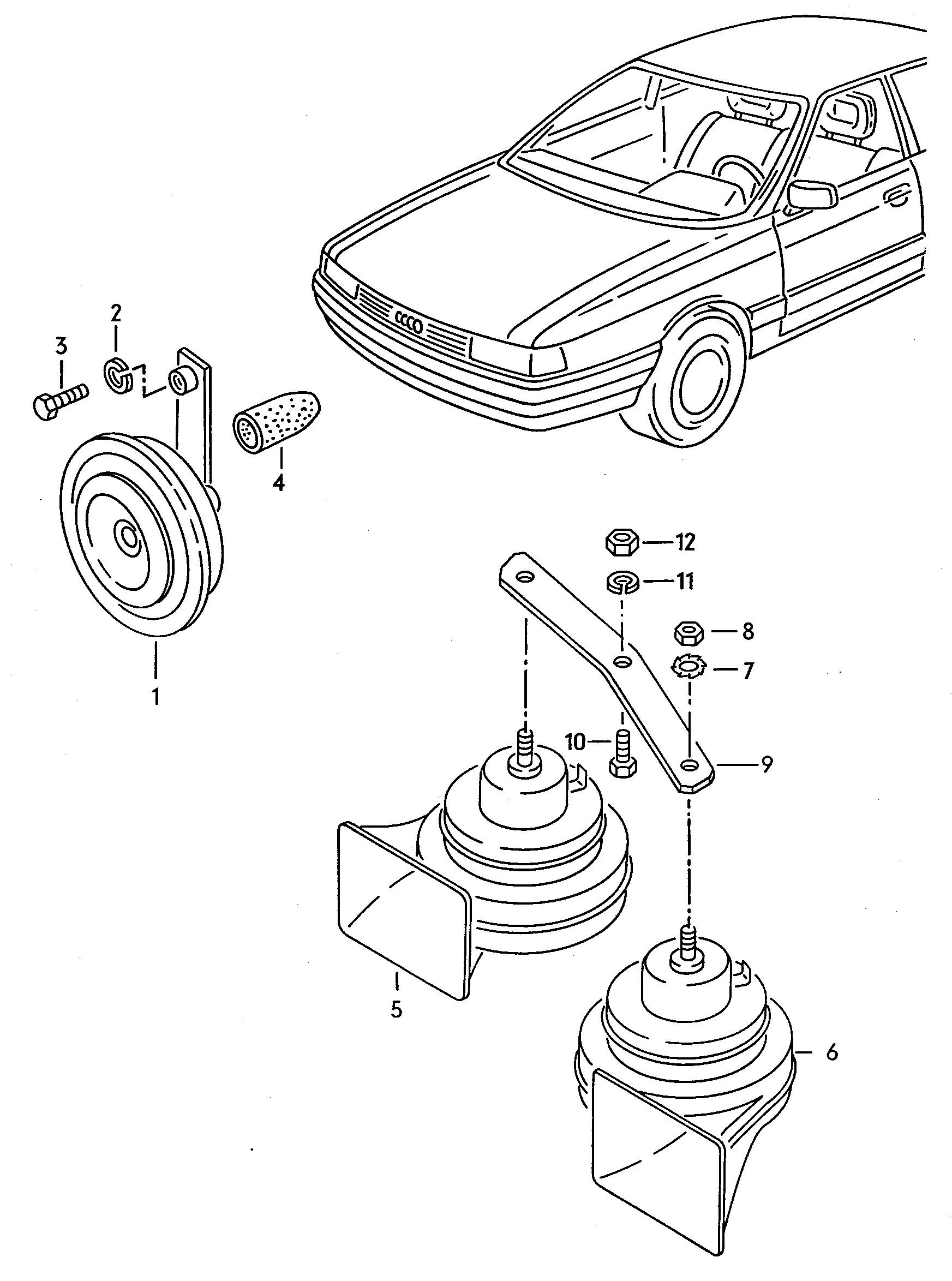Diagram Of All Car Parts Audi Audi 80 90 Avant Europe 1992 8a N 000 001 8a N Of Diagram Of All Car Parts