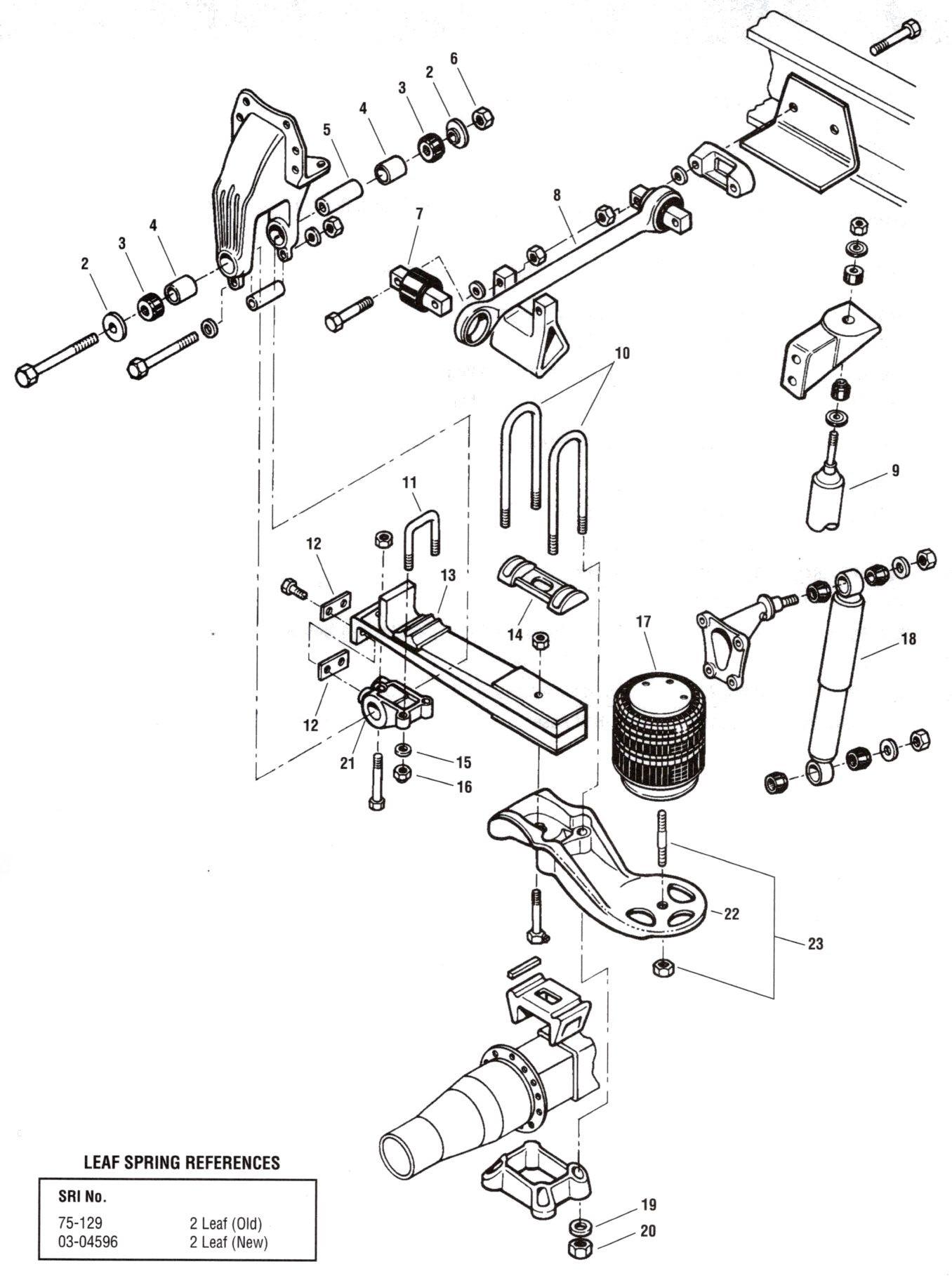 Freightliner Air Tank Diagram Peterbilt Air Leaf Suspension Of Freightliner Air Tank Diagram