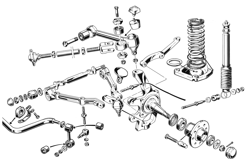 Front Suspension Components Diagram Suspension Front Suspension Arms Of Front Suspension Components Diagram