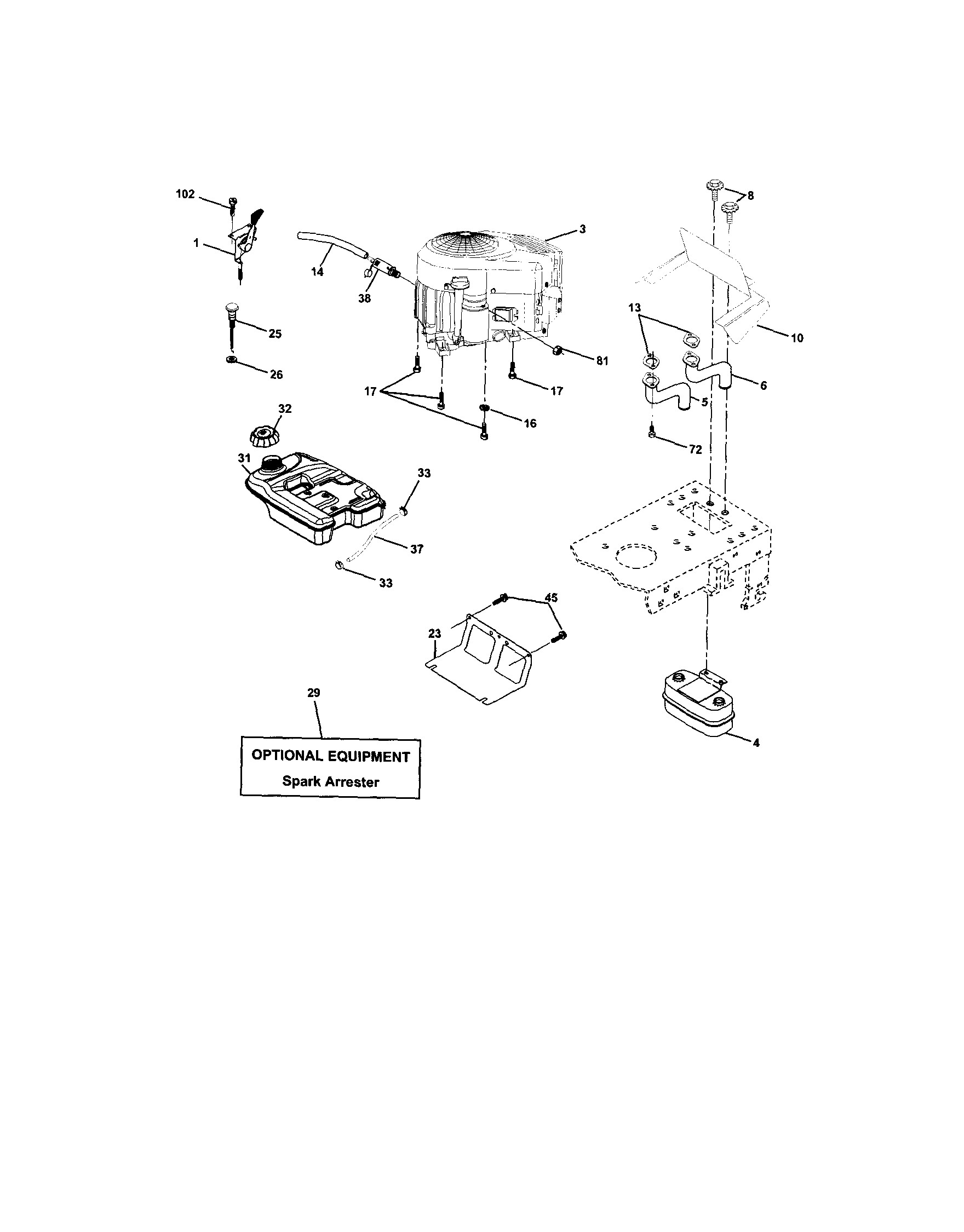 Lawn Mower Engine Parts Diagram Looking for Craftsman Model Front Engine Lawn Of Lawn Mower Engine Parts Diagram