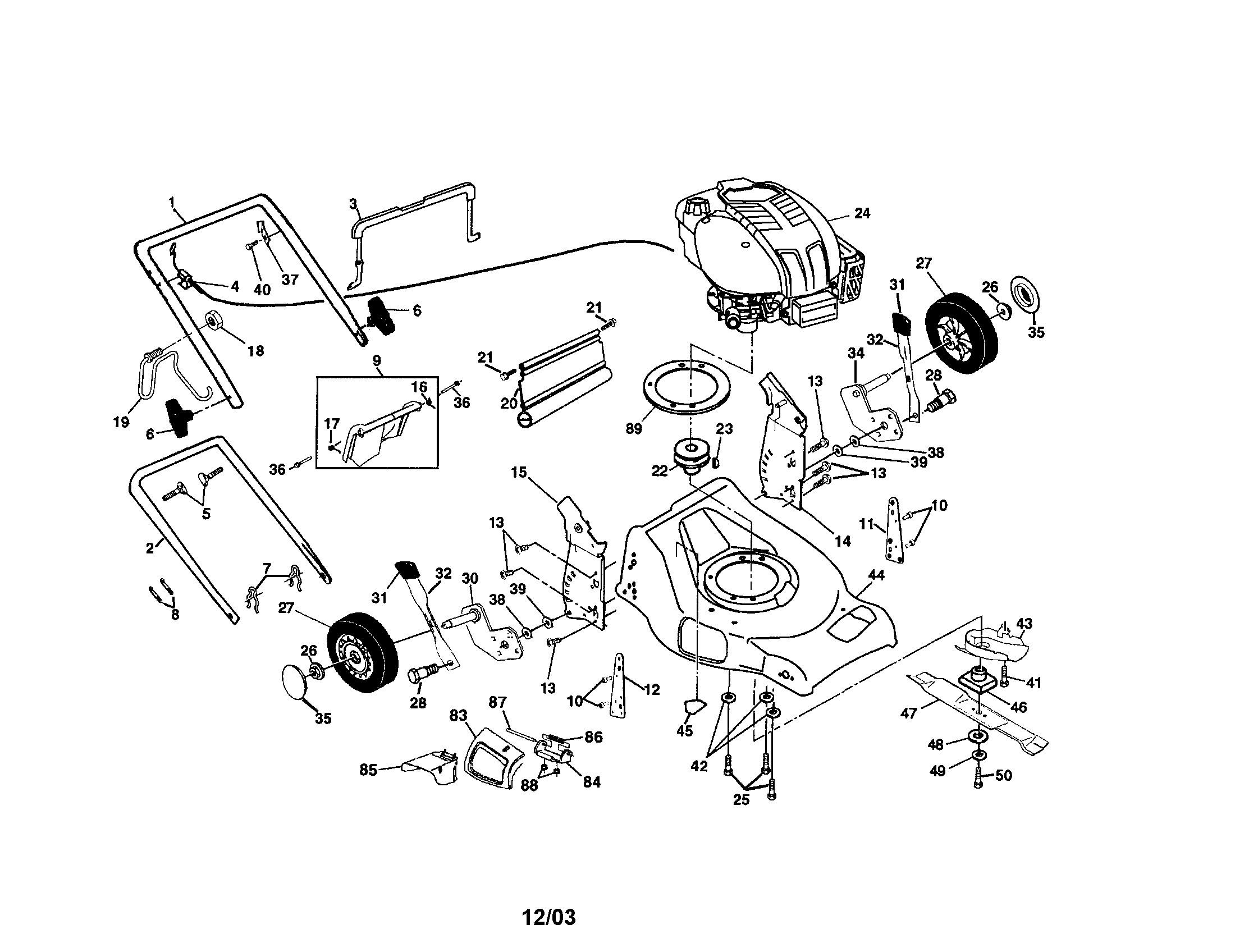 Lawn Mower Engine Parts Diagram Looking for Craftsman Model Gas Walk Behind Mower Of Lawn Mower Engine Parts Diagram
