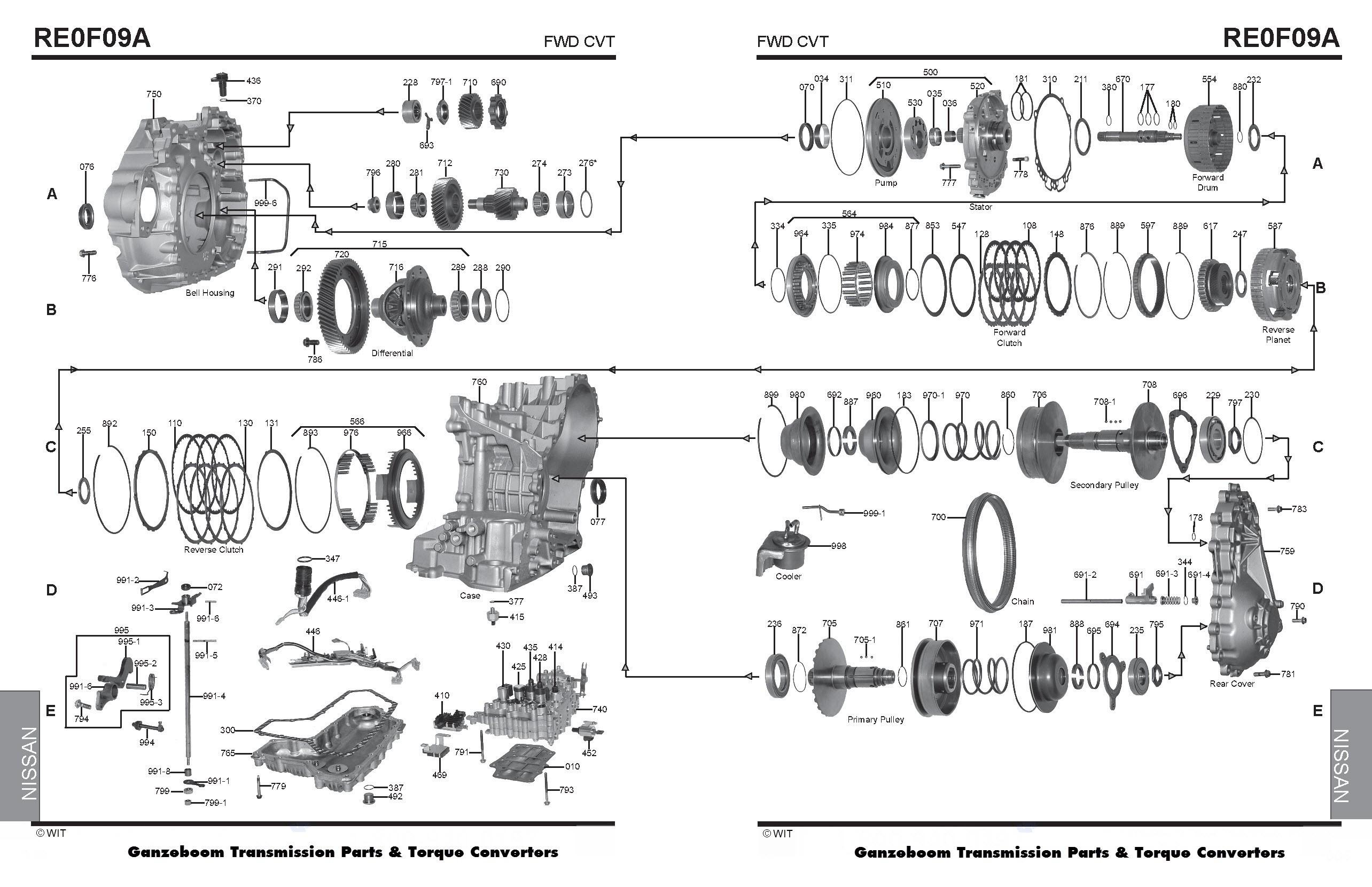 Nissan Murano Engine Diagram Jf010e Re0f09a Cvt Nissan Murano Of Nissan Murano Engine Diagram