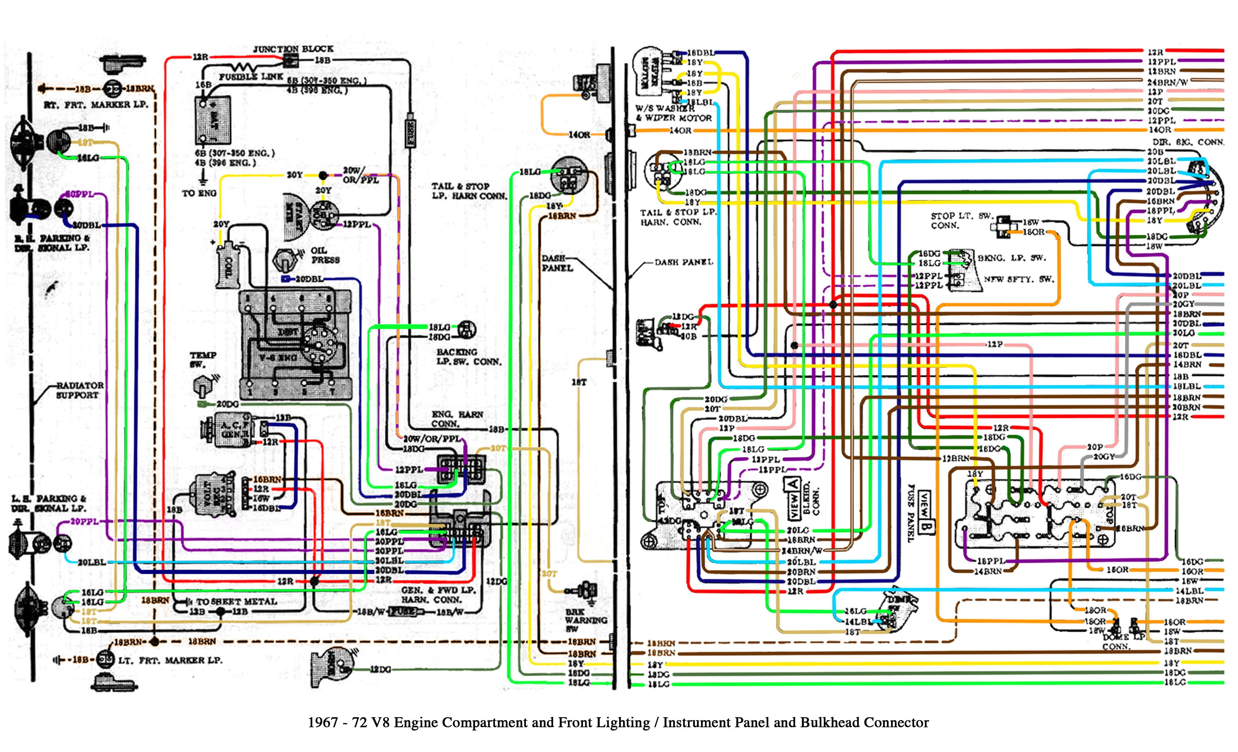 1974 Sportster Directional Light Wiring Diagram Color Wiring Diagram Finished the 1947 Present Chevrolet Of 1974 Sportster Directional Light Wiring Diagram