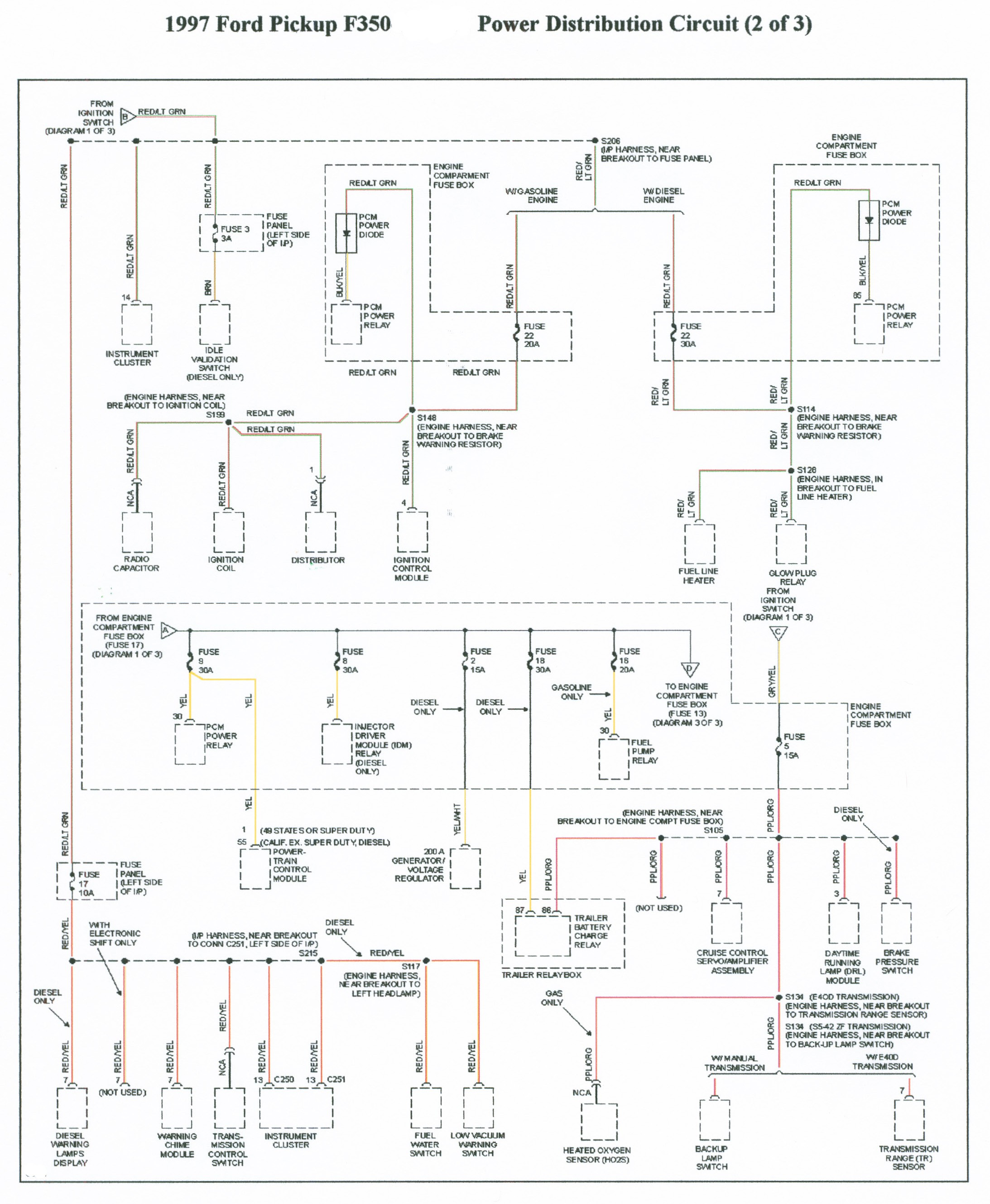 1994 E-350 Idi Relay Schematic No Wait to Start Light Of 1994 E-350 Idi Relay Schematic