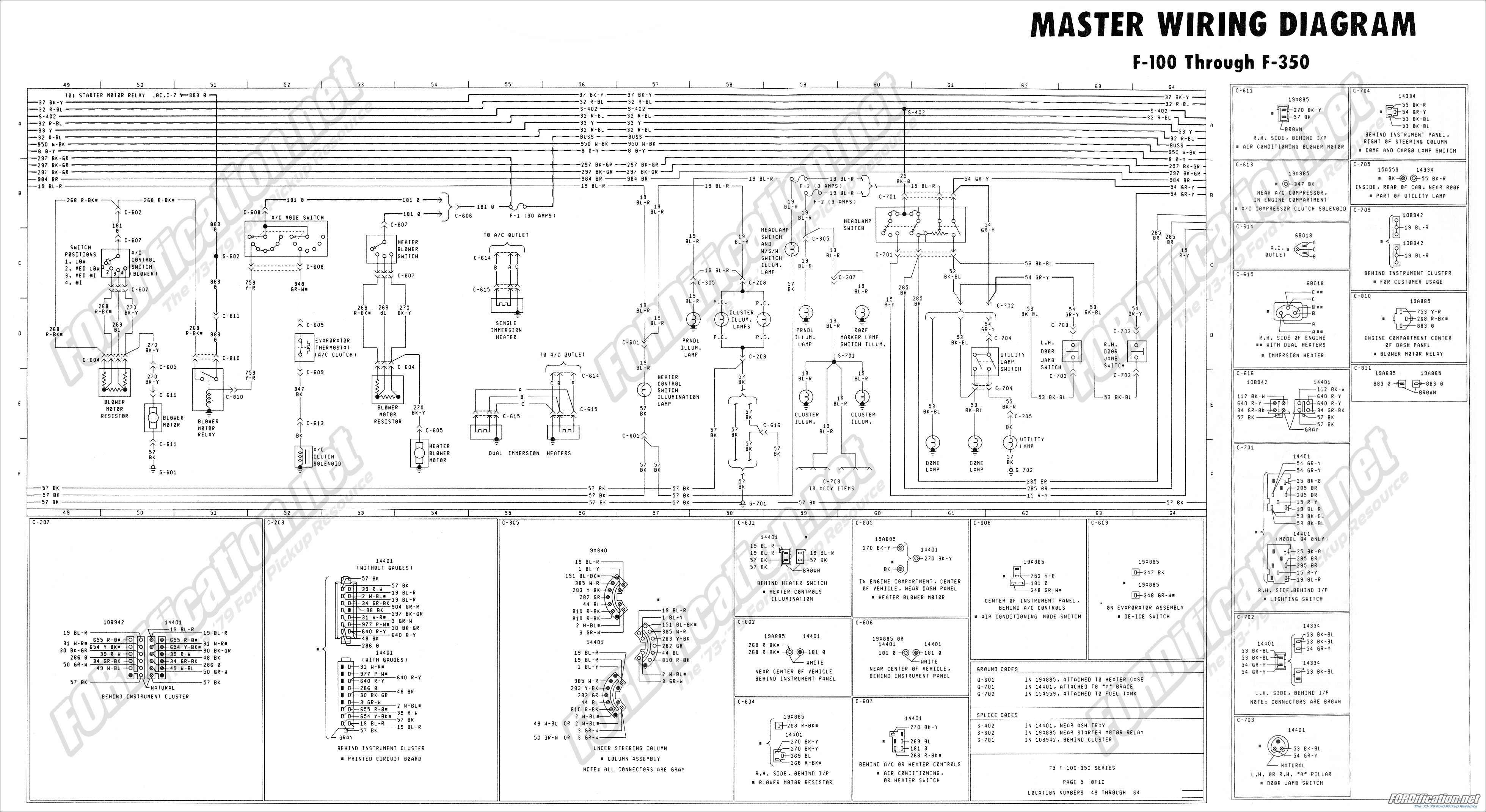 1999 ford 550 Tailight Diagram 1973 1979 ford Truck Wiring Diagrams & Schematics Of 1999 ford 550 Tailight Diagram