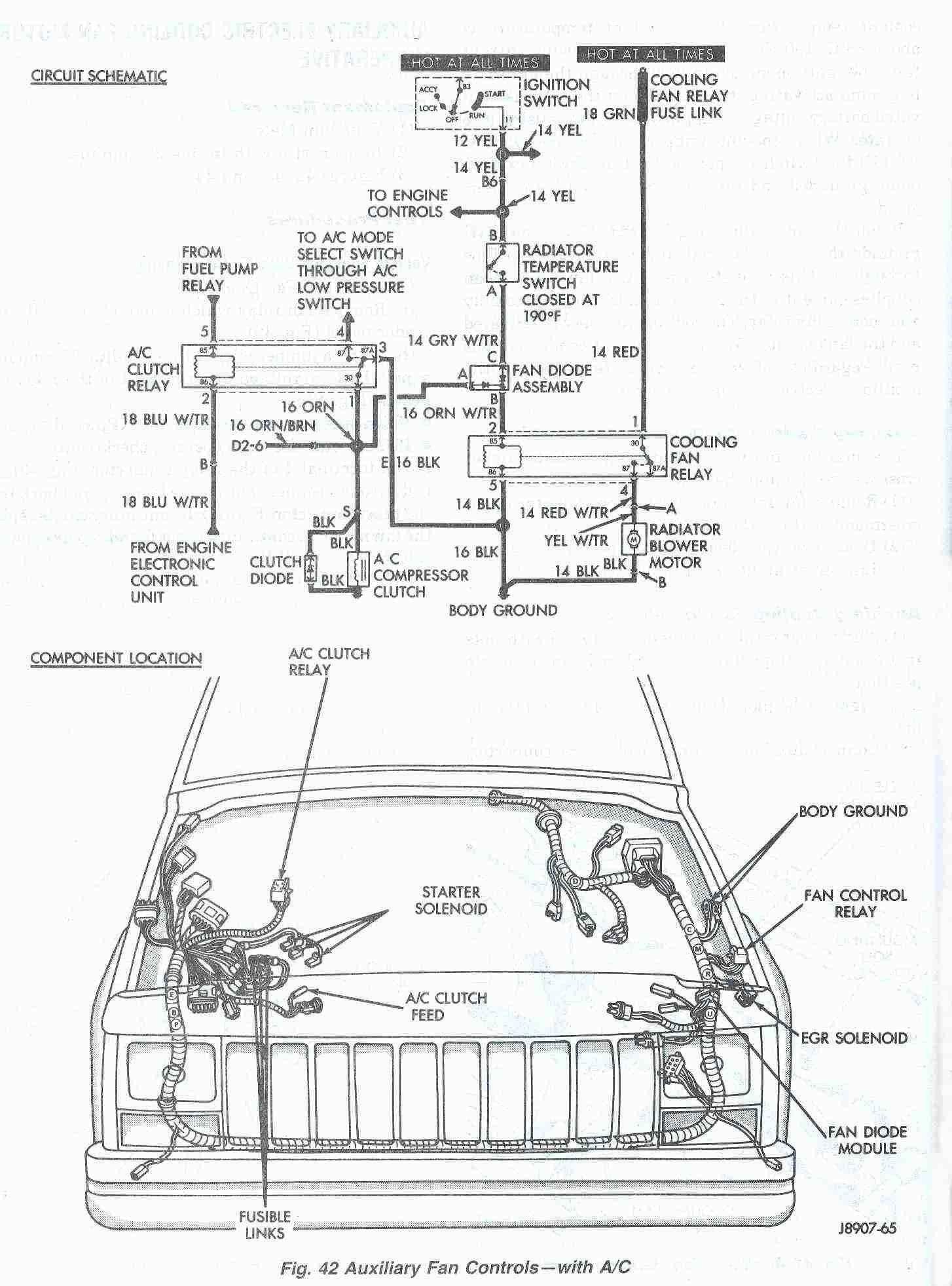 2002 Grand Cherokee Fan Schematic Jeep Cherokee Cooling System Electric Cooling Fan Of 2002 Grand Cherokee Fan Schematic