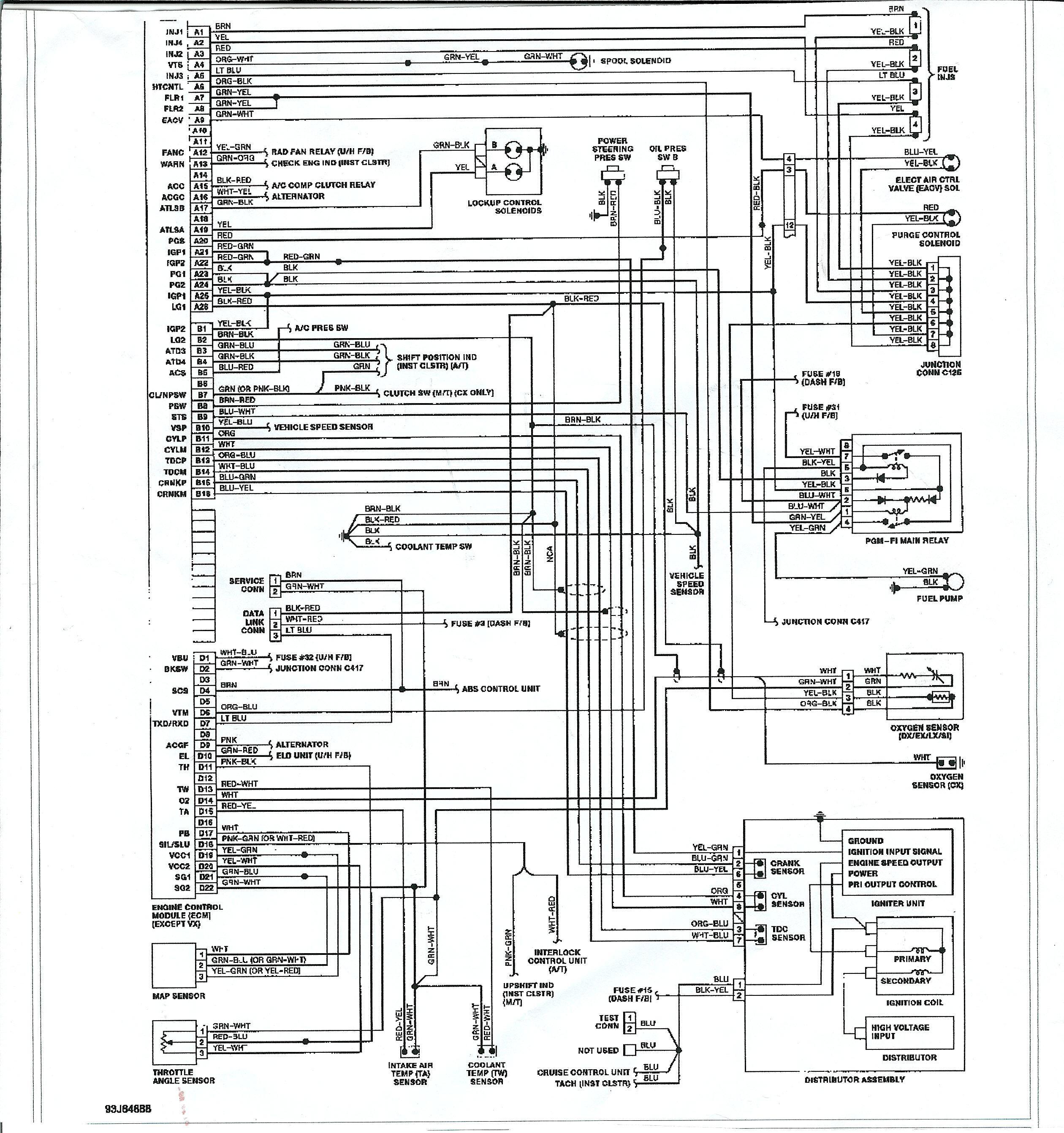 2002 Honda Civic Wiring Schematics Cw 2700] Honda Civic Wiring Diagram Honda Civic Ignition Of 2002 Honda Civic Wiring Schematics