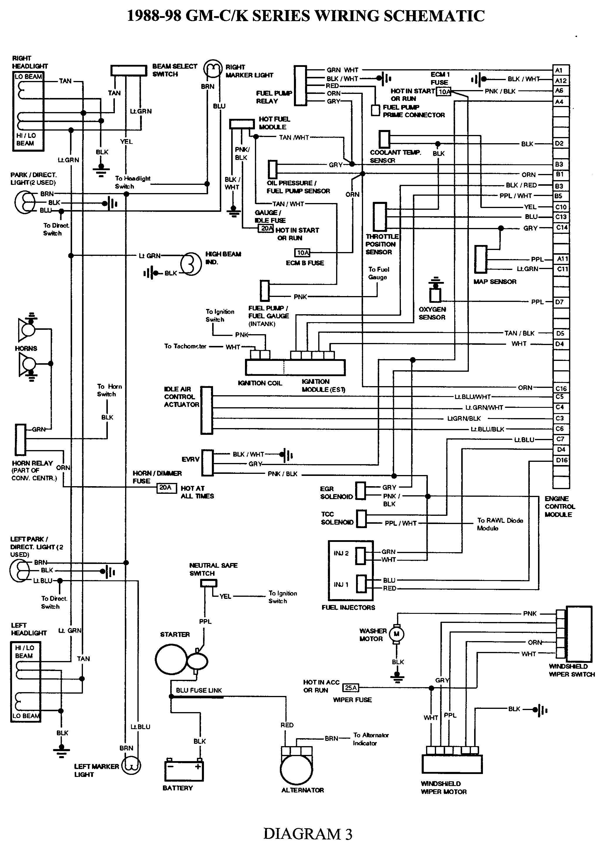 2003 Chevy Trailblazer Single Light Wire Diagram Gmgm Wiring Harness Diagram 88 98 with Images Of 2003 Chevy Trailblazer Single Light Wire Diagram