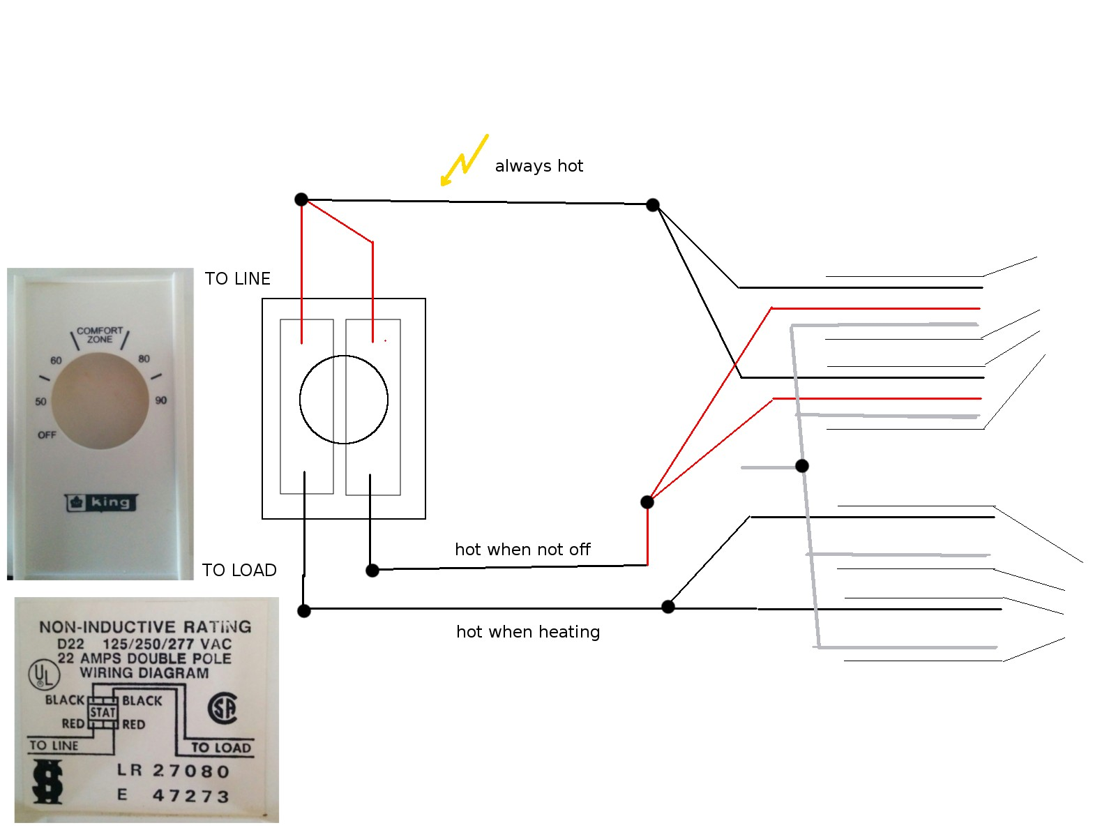 2wire thermostat Wiring Diagram Installing Double Pole Line Voltage thermostat Home Of 2wire thermostat Wiring Diagram