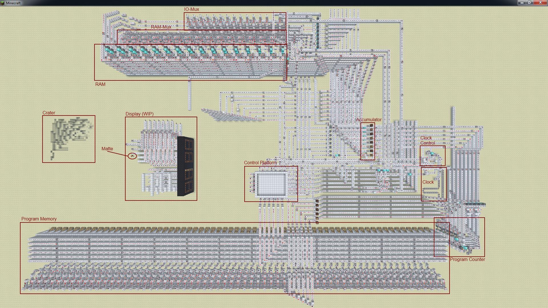 8 Bit Alu Circuit 8 Bit Redstone Cpu Wip Minecraft Of 8 Bit Alu Circuit