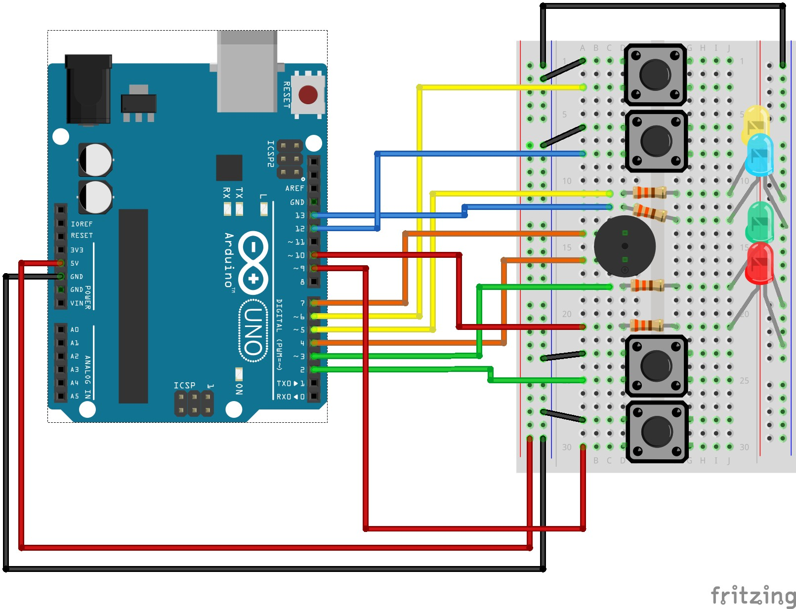 Arduino Wiring Schematic Maker Arduino Simon Says Arduino Project Hub Of Arduino Wiring Schematic Maker