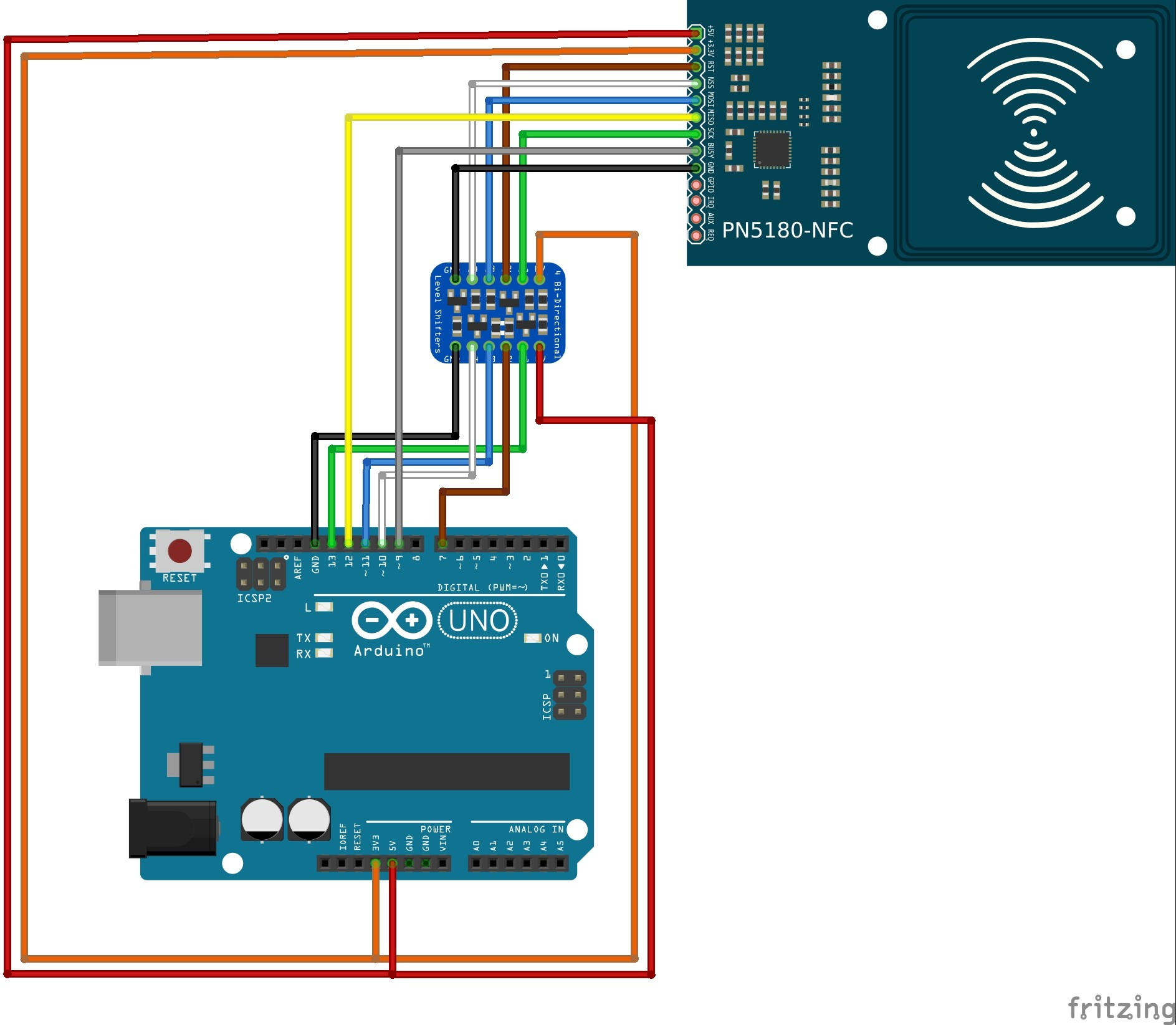 Arduino Wiring Schematic Maker Wiring Piling and Leds · issue 3 · atrappmann Pn5180 Of Arduino Wiring Schematic Maker