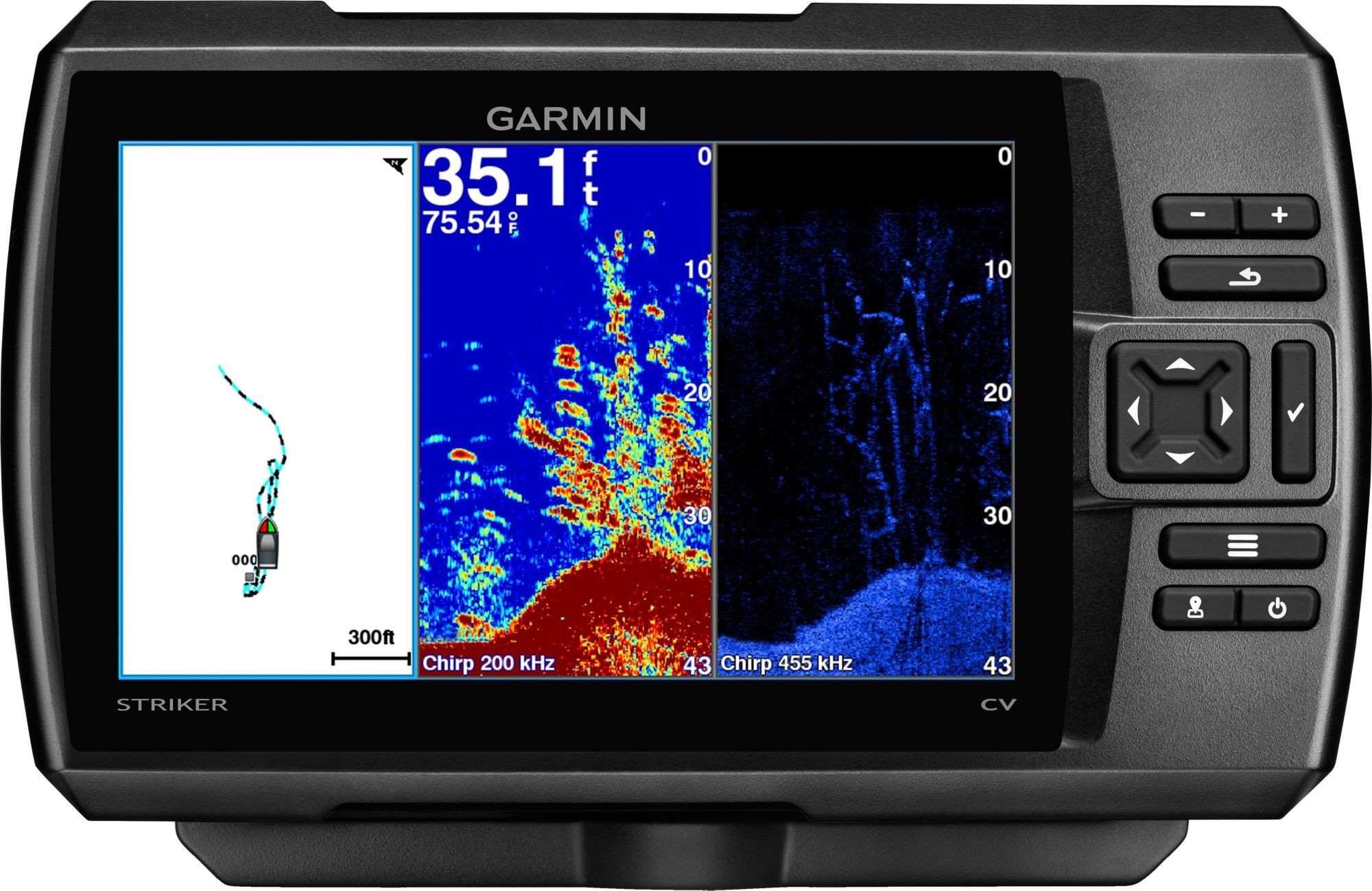 Blue Wire On Garmin Striker 4 Garmin Striker 7cv Gps Fish Finder 010 00 Blue