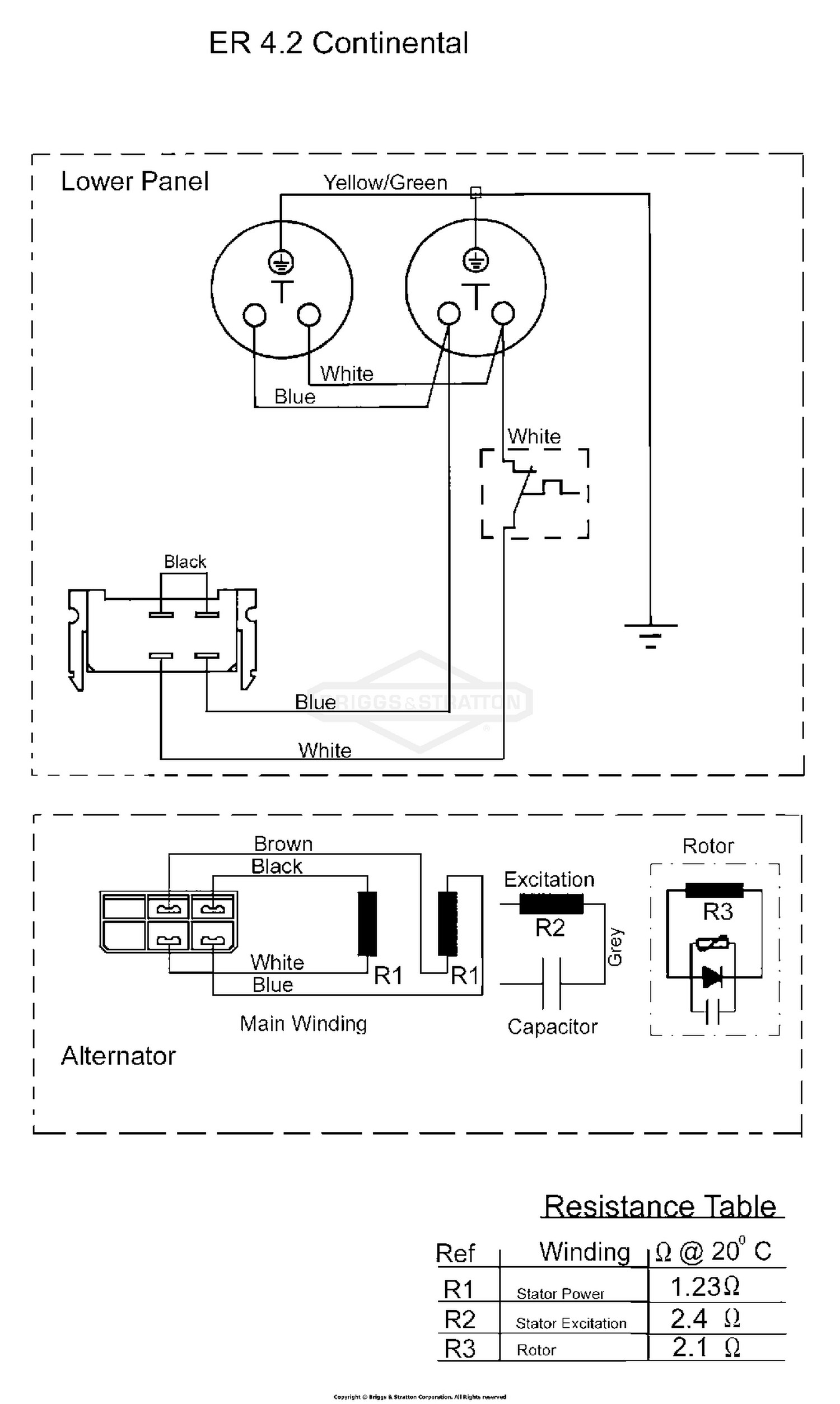 Briggs and Stratton Alternator Wiring Diagram Kf 6412] Briggs and Stratton Stator Wiring Diagram Download