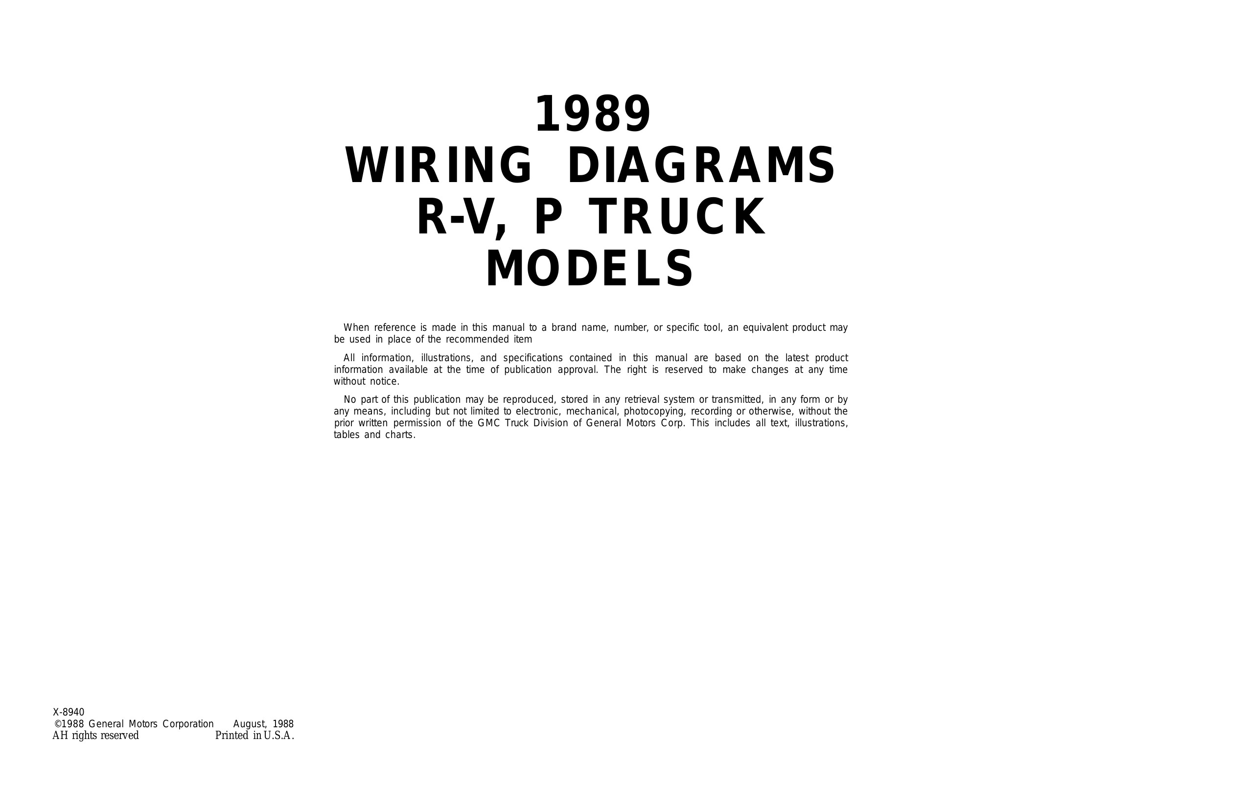 C13 and C14 Wiring Diagrams 1989 Wiring Diagrams Rv P Truck Models 73
