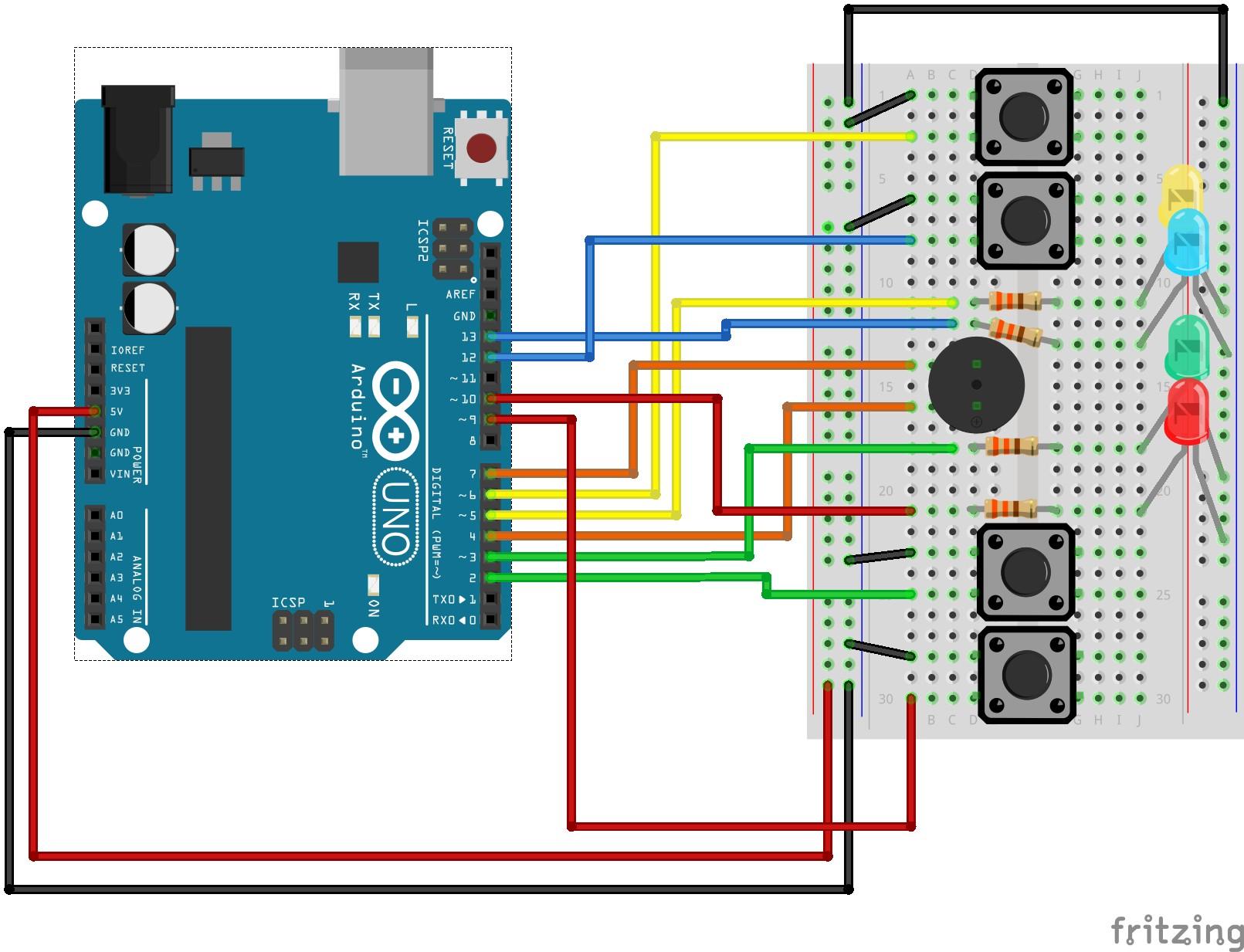 Circuit Diagram Maker Arduino Arduino Simon Says Arduino Project Hub Of Circuit Diagram Maker Arduino