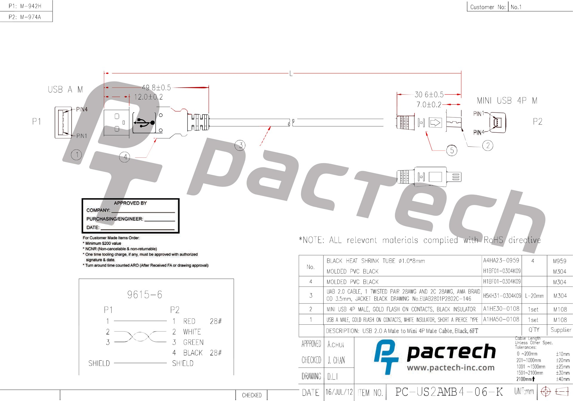 Esata/usb 2.0 to Usb 2.0 Wiring Schematic Usb 2 0 A Male to Mini 4p Male Cable Black 6ft Of Esata/usb 2.0 to Usb 2.0 Wiring Schematic