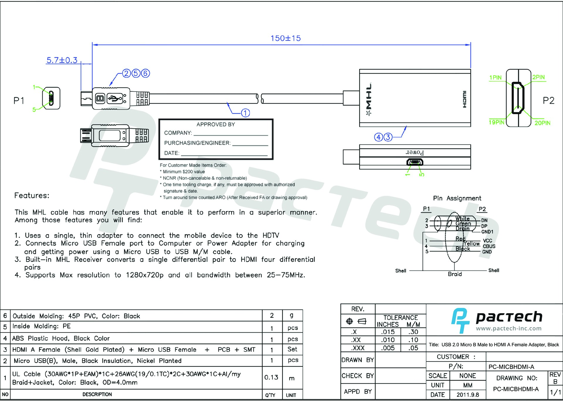 Esata/usb 2.0 to Usb 2.0 Wiring Schematic Usb 2 0 Micro B Male to Hdmi A Female Adapter Black Of Esata/usb 2.0 to Usb 2.0 Wiring Schematic