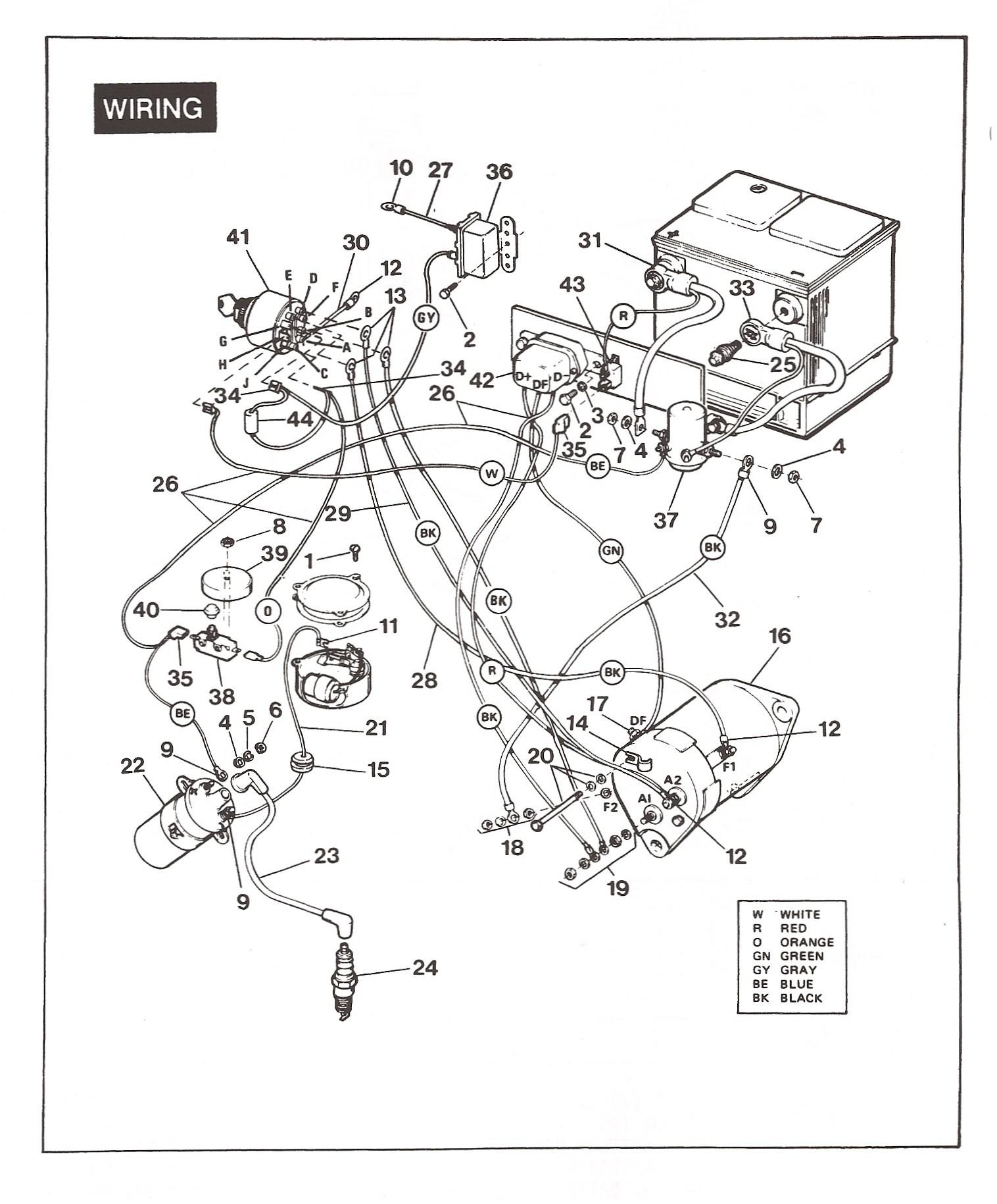 Ezgo 1989 Gas Engine Wiring Br 7770] Golf Cart Gas Engine Parts Diagrams Also 1969 Of Ezgo 1989 Gas Engine Wiring