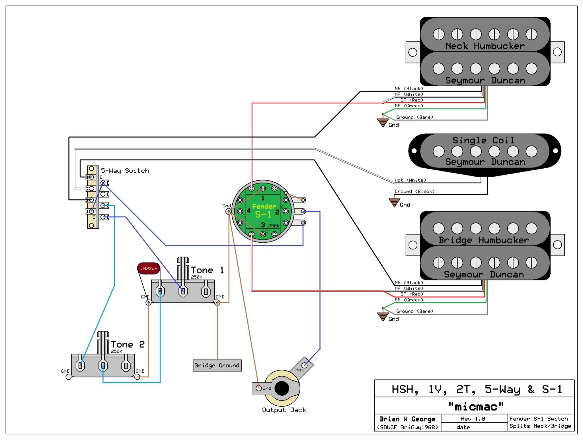 Fender S-1 Switching Diagram Lk 6405] Fender Lace Sensor Wiring Wiring Diagram Of Fender S-1 Switching Diagram
