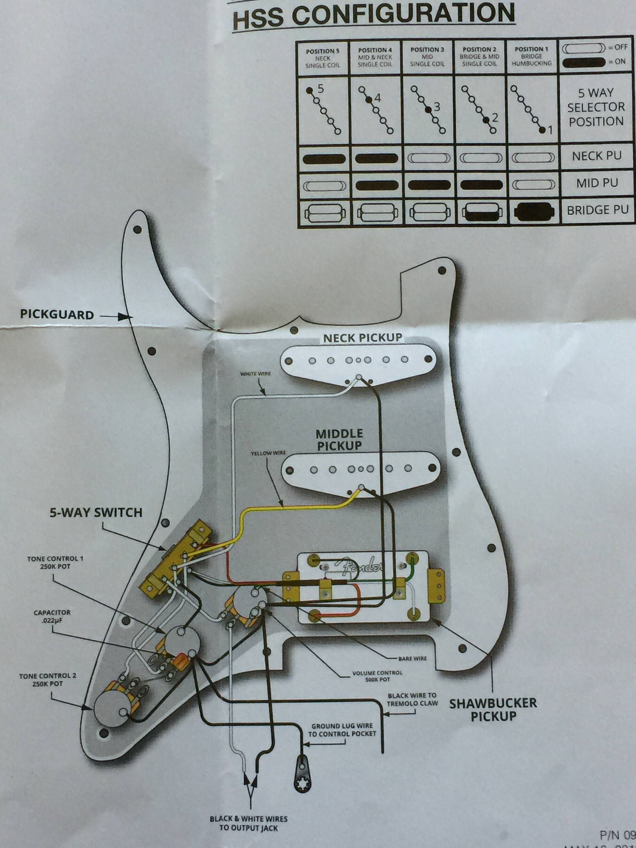 Fender S-1 Wiring Diagrams Wiring Diagrams for Guitars Of Fender S-1 Wiring Diagrams