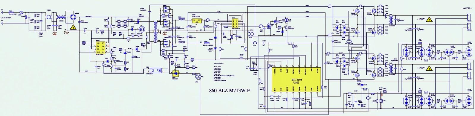 Fujitsu Ctm5020 Monitor Schematics Diagrams Electro Help 860 Alz M713w F Power Supply & Inverter Schematic Circuit Diagram Of Fujitsu Ctm5020 Monitor Schematics Diagrams