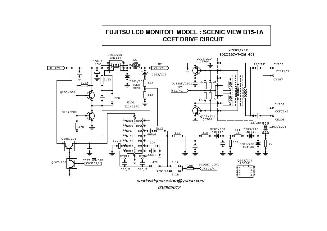 Fujitsu Ctm5020 Monitor Schematics Diagrams