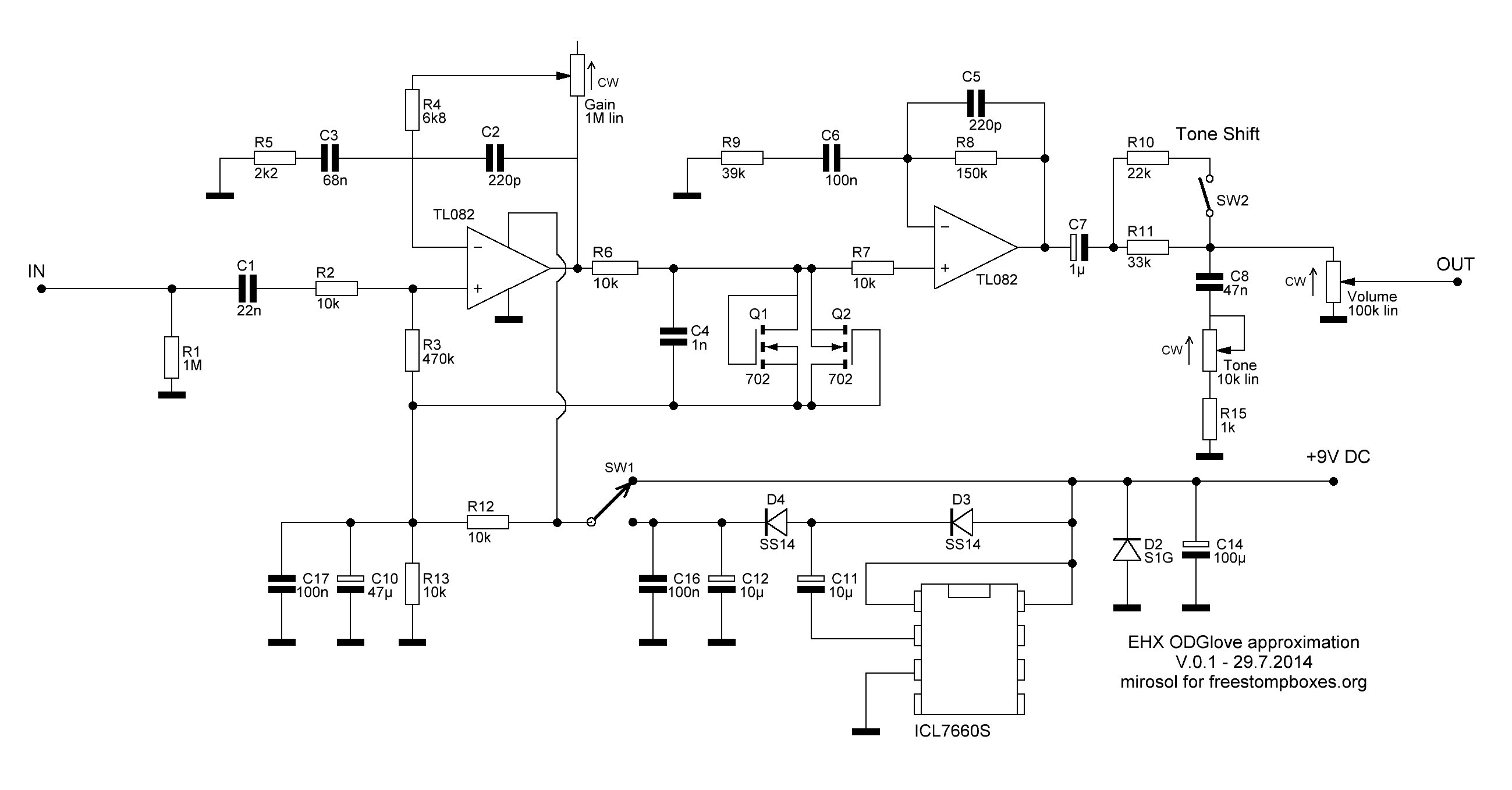 Fy-6 Super Fuzz Schematic Perf and Pcb Effects Layouts 2016 Of Fy-6 Super Fuzz Schematic