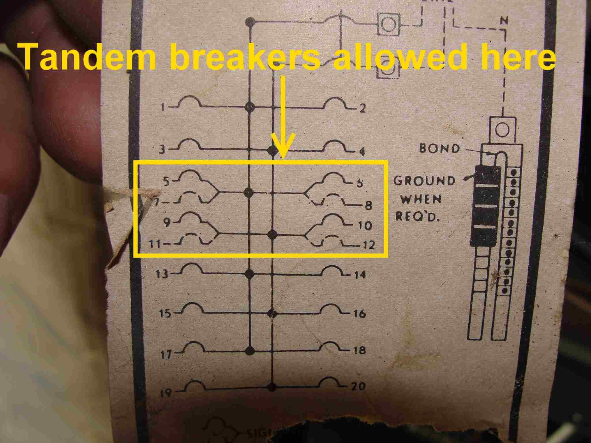 Grounding Wiring On Homelite 100 Amps 12 Space 24 Circuit How to Know when Tandem Circuit Breakers Can Be Used Aka Of Grounding Wiring On Homelite 100 Amps 12 Space 24 Circuit
