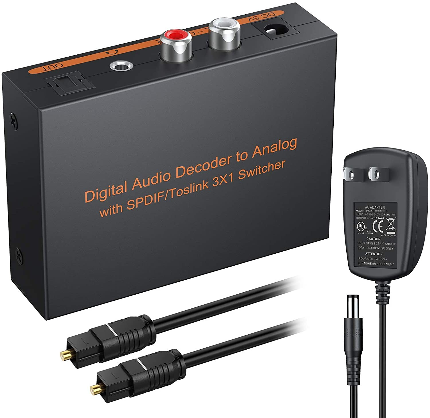 Hdmi to Rca Converter Wiring Diagram Esynic Digital to Analog Audio Decoder 3 Port Optical Spdif toslink to L R Rca 3 5mm Stereo Audio with toslink Optical Switcher Splitter with 6 5ft Od Of Hdmi to Rca Converter Wiring Diagram