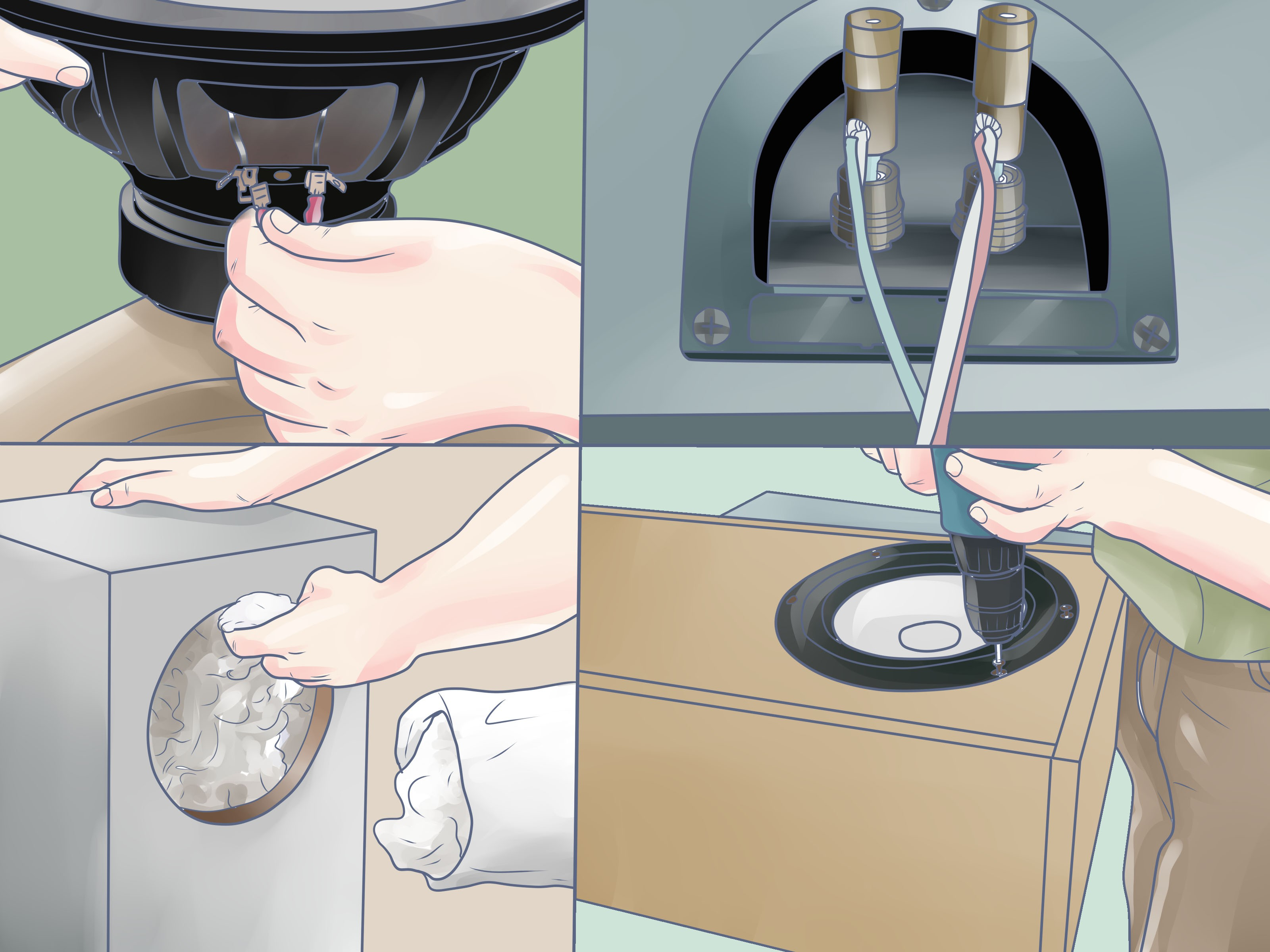 How to Wire A Speaker Cabinet How to Build A Speaker Box 12 Steps with Wikihow Of How to Wire A Speaker Cabinet