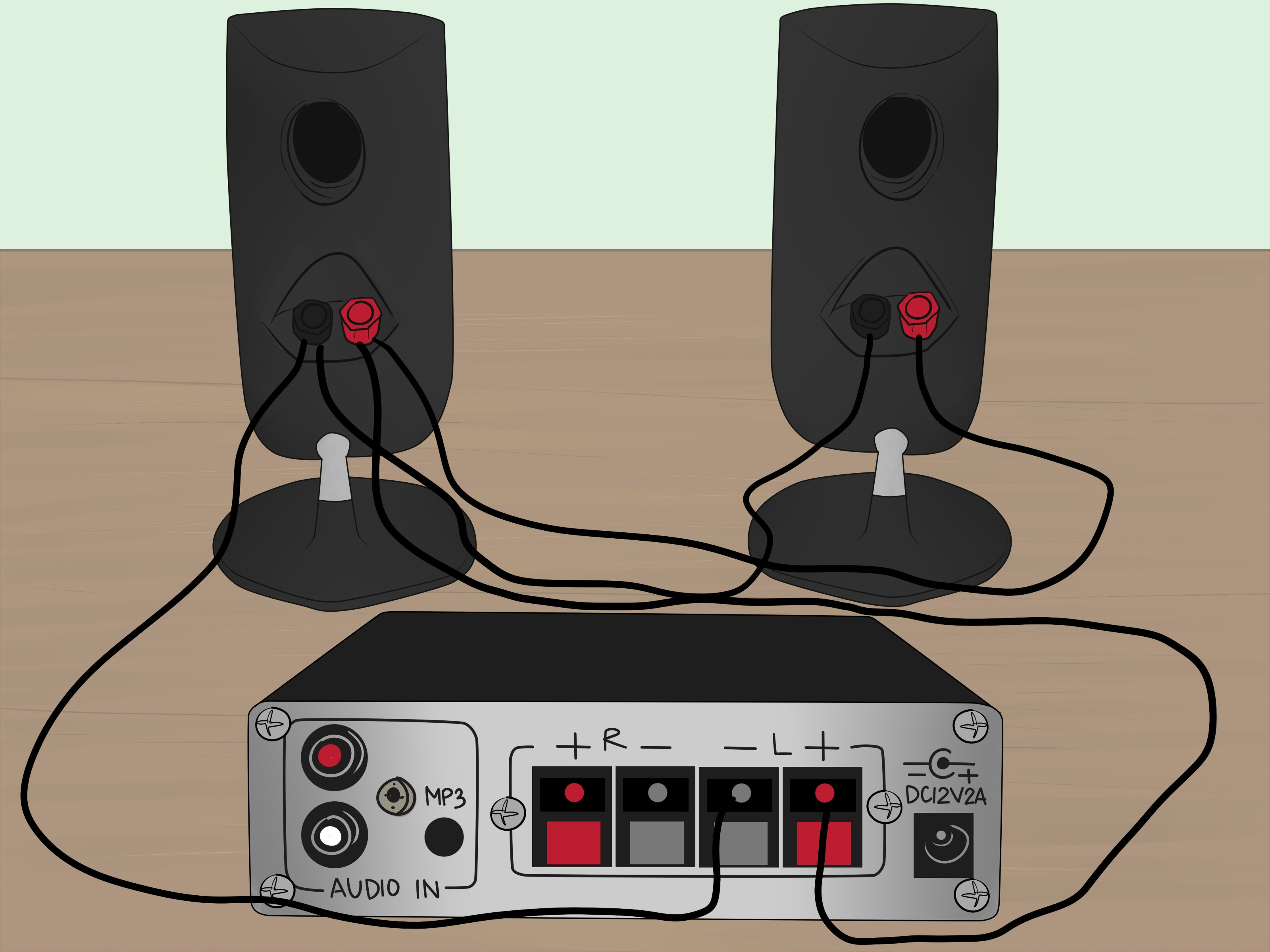 How to Wire A Speaker Cabinet How to Power Two Speakers with A E Channel Amp 9 Steps Of How to Wire A Speaker Cabinet