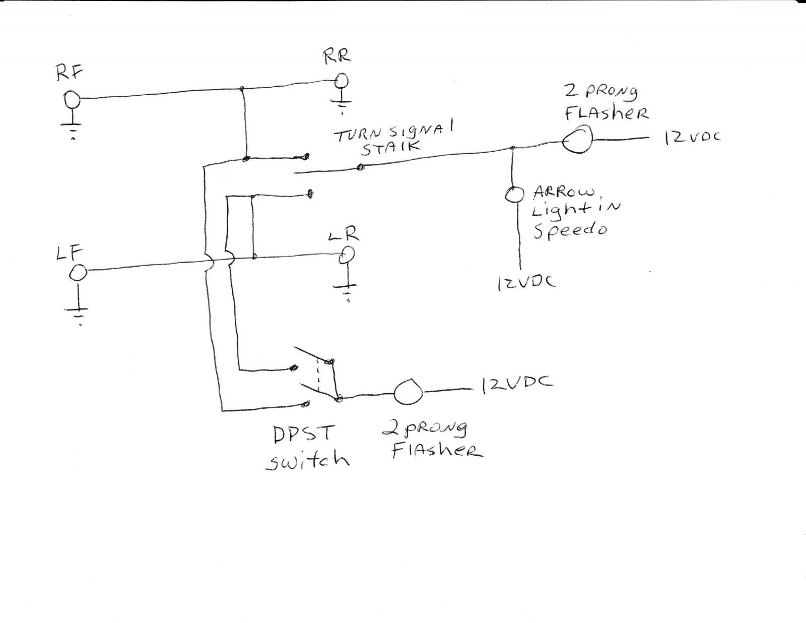How to Wire A Three Prong Flasher thesamba Ghia View topic Emergency Hazard Of How to Wire A Three Prong Flasher