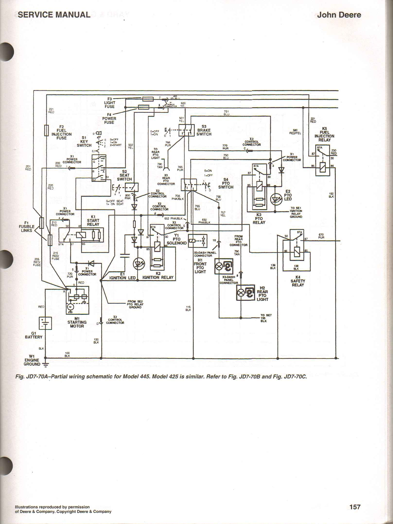 John Deere 345 Electrical Schematic I Ve Got A Deere 425 with No Spark the Led for Ignition On Of John Deere 345 Electrical Schematic