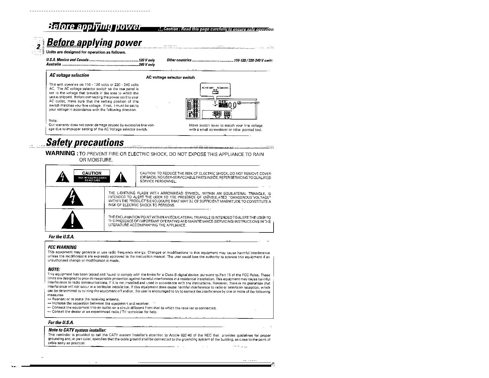 Kdc 255u Wiring Diagram Kenwood Kr 694 Kr V5560 User Manual Of Kdc 255u Wiring Diagram