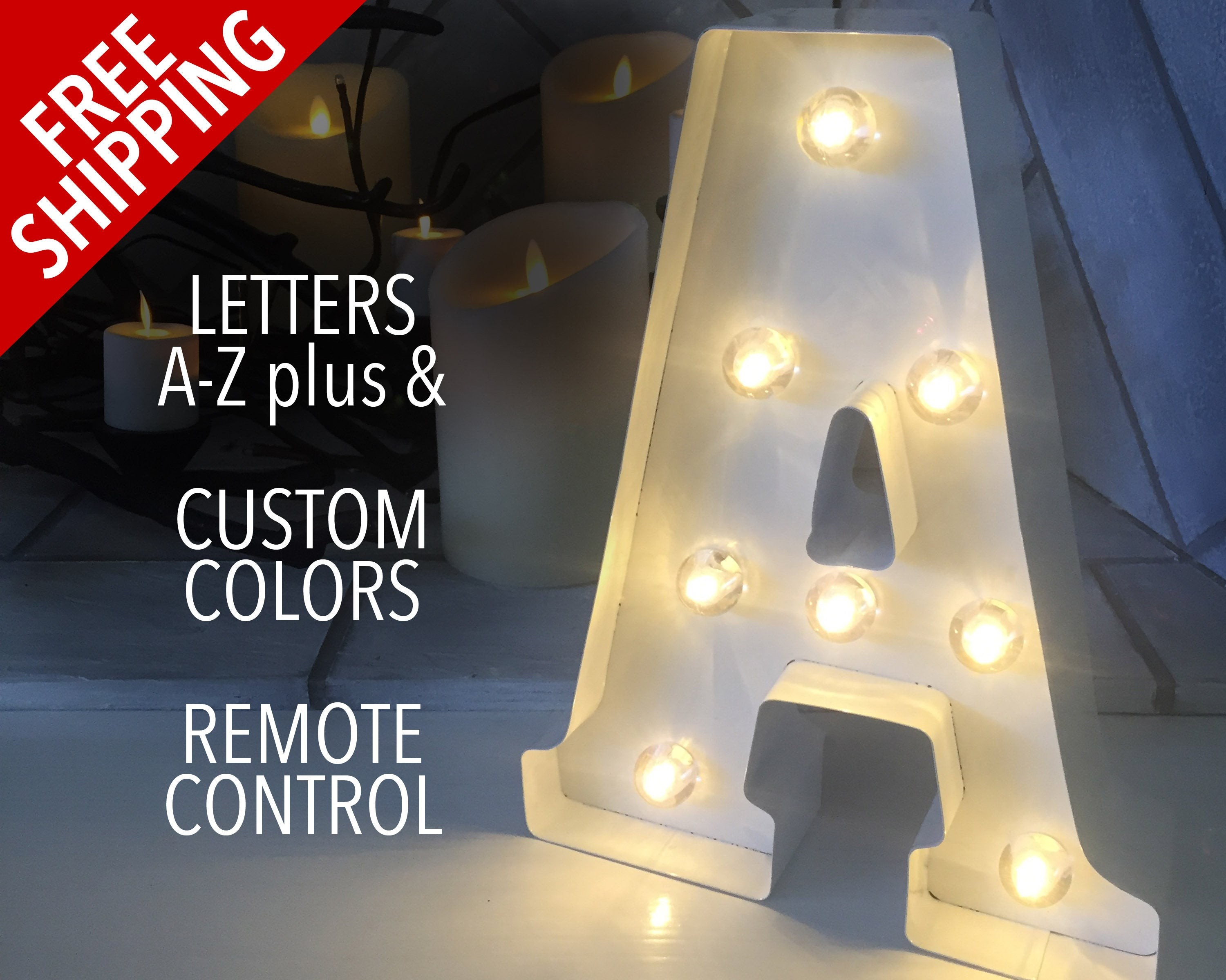 Marquee Letters that are Lite with Timers Light Up Letters Marquee Letters Light Bulb Letters Letter Lights Marquee Lights Remote Control Custom Color Stand Up Wall Mount Of Marquee Letters that are Lite with Timers