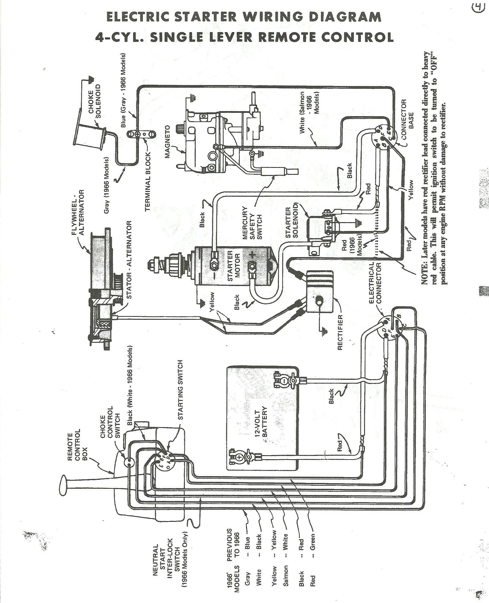 Mercury 4 Stroke Key Switch Wiring I Have A 1965 Mercury 500 50 Hp Electric Start Using Boat Of Mercury 4 Stroke Key Switch Wiring