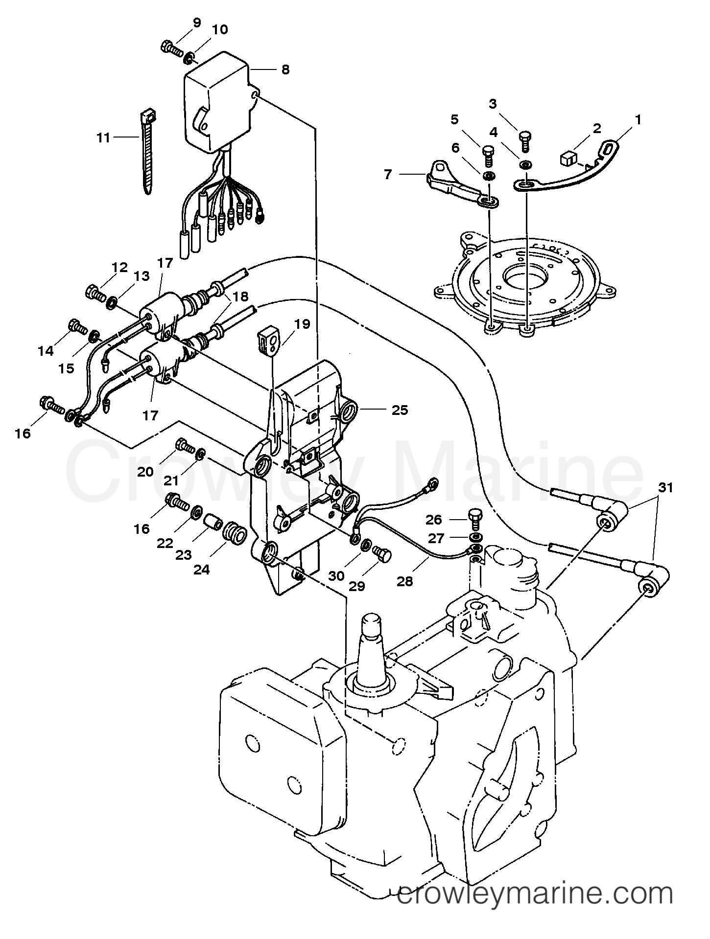 Mercury Outboard Ignition Diagram Electrical 1994 Mariner Outboard 25 [ml] Cw Of Mercury Outboard Ignition Diagram