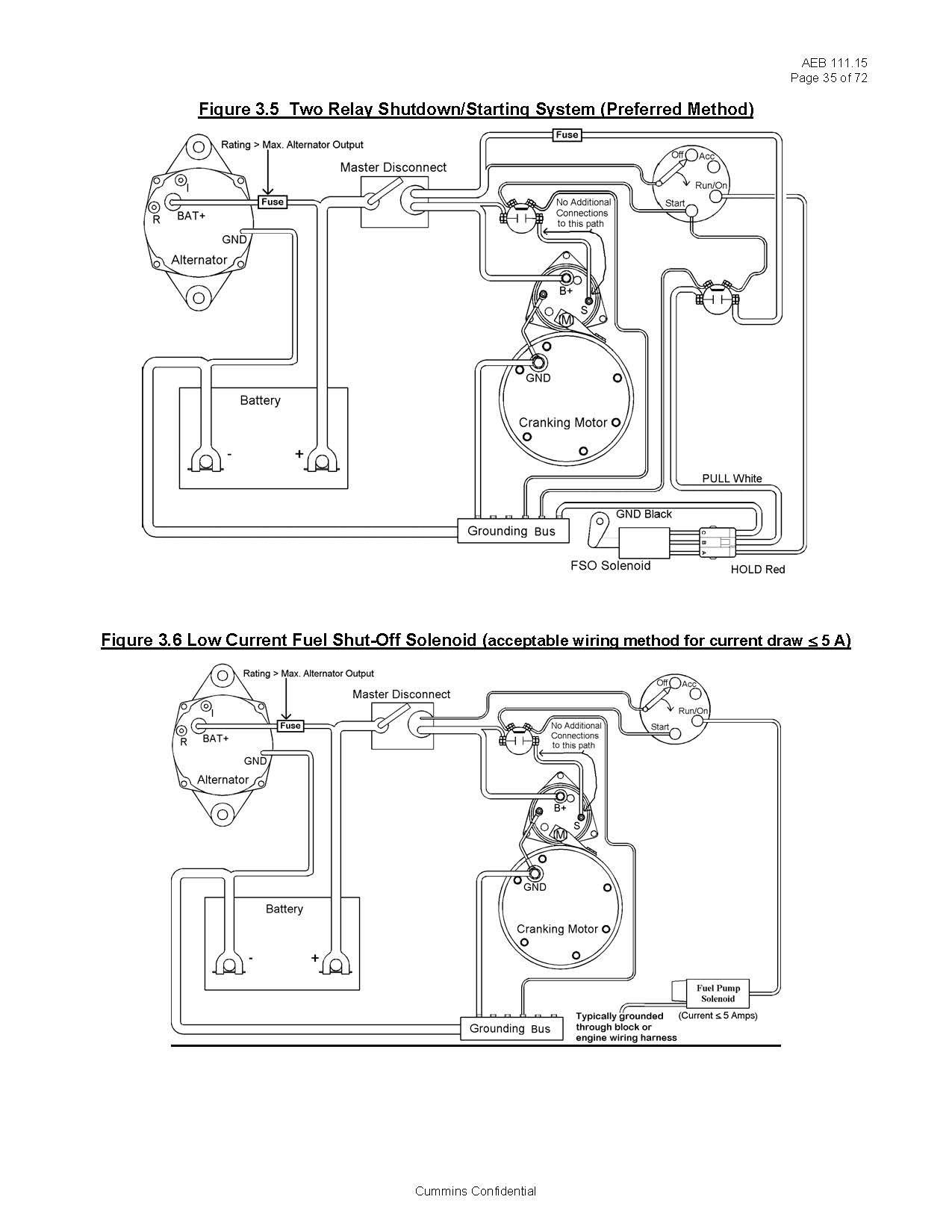 Pump Start Relay Wiring Basic Fuel Shutoff solenoid and Starter Wiring Information