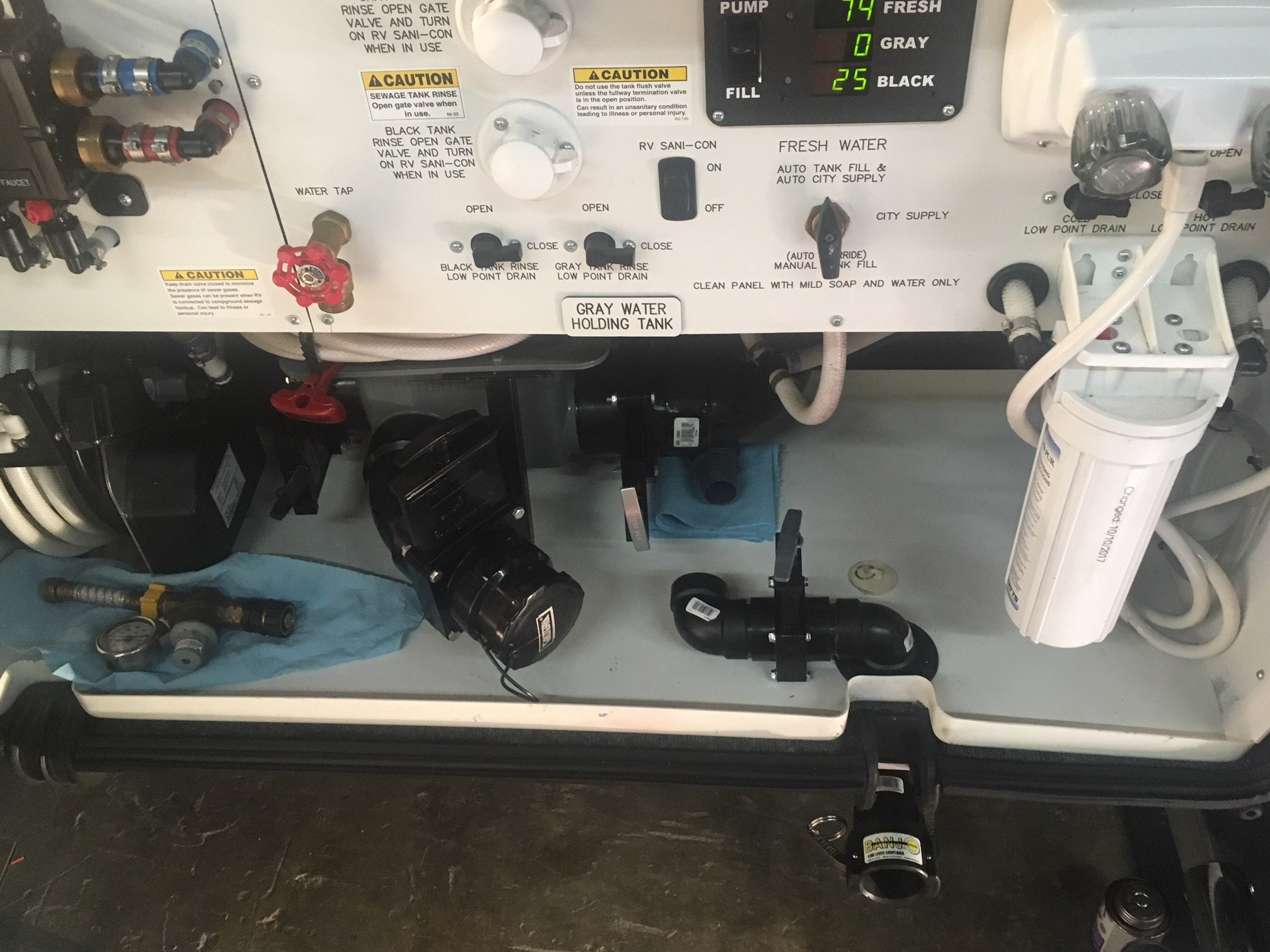 Rv Monitor Panel Instructins Hard Piping thetford Sanicon Sewer Dump Line Modifications Of Rv Monitor Panel Instructins