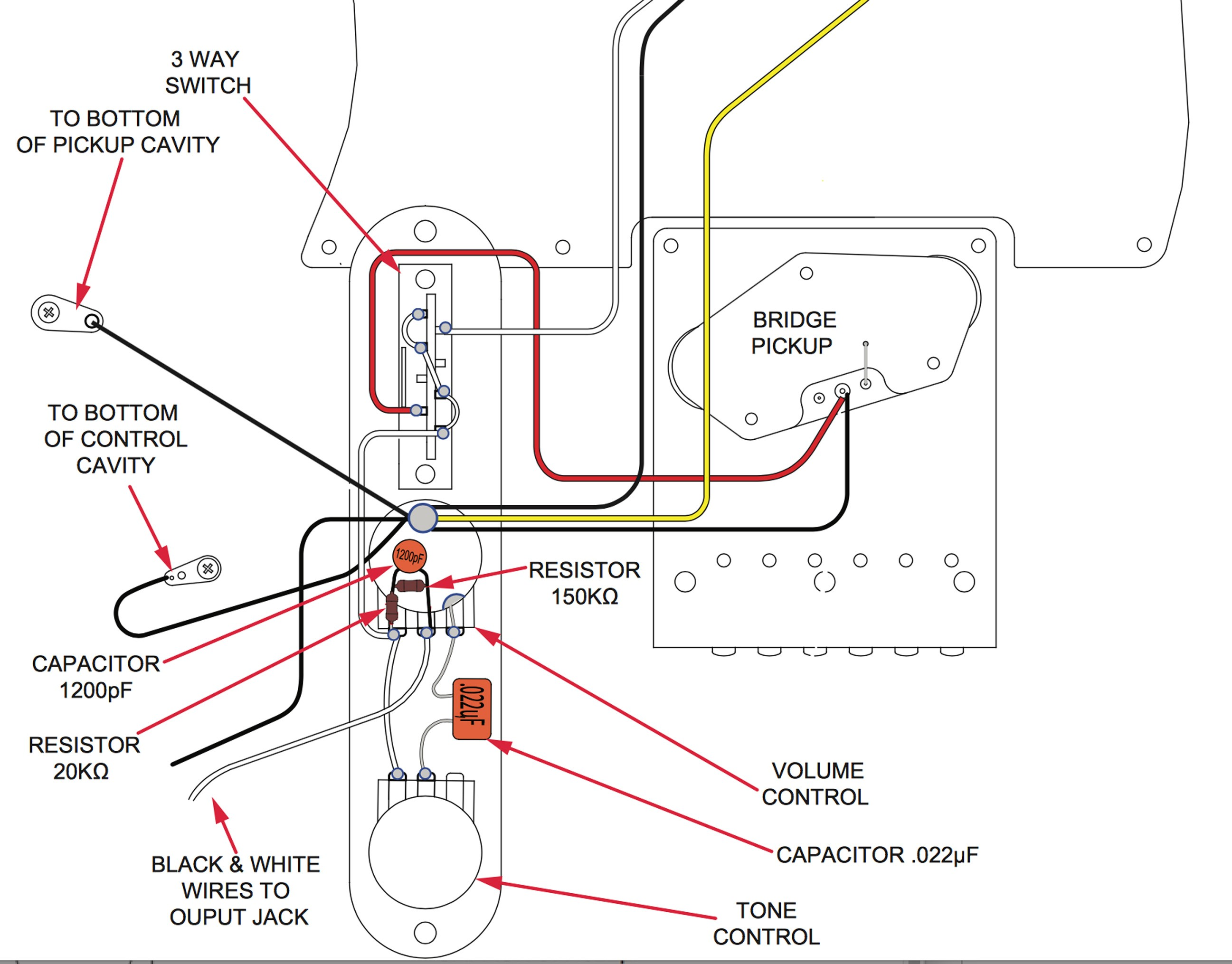Schematic Of Fender Tele S-1 Switch How A Treble Bleed Circuit Can Affect Your tone Of Schematic Of Fender Tele S-1 Switch