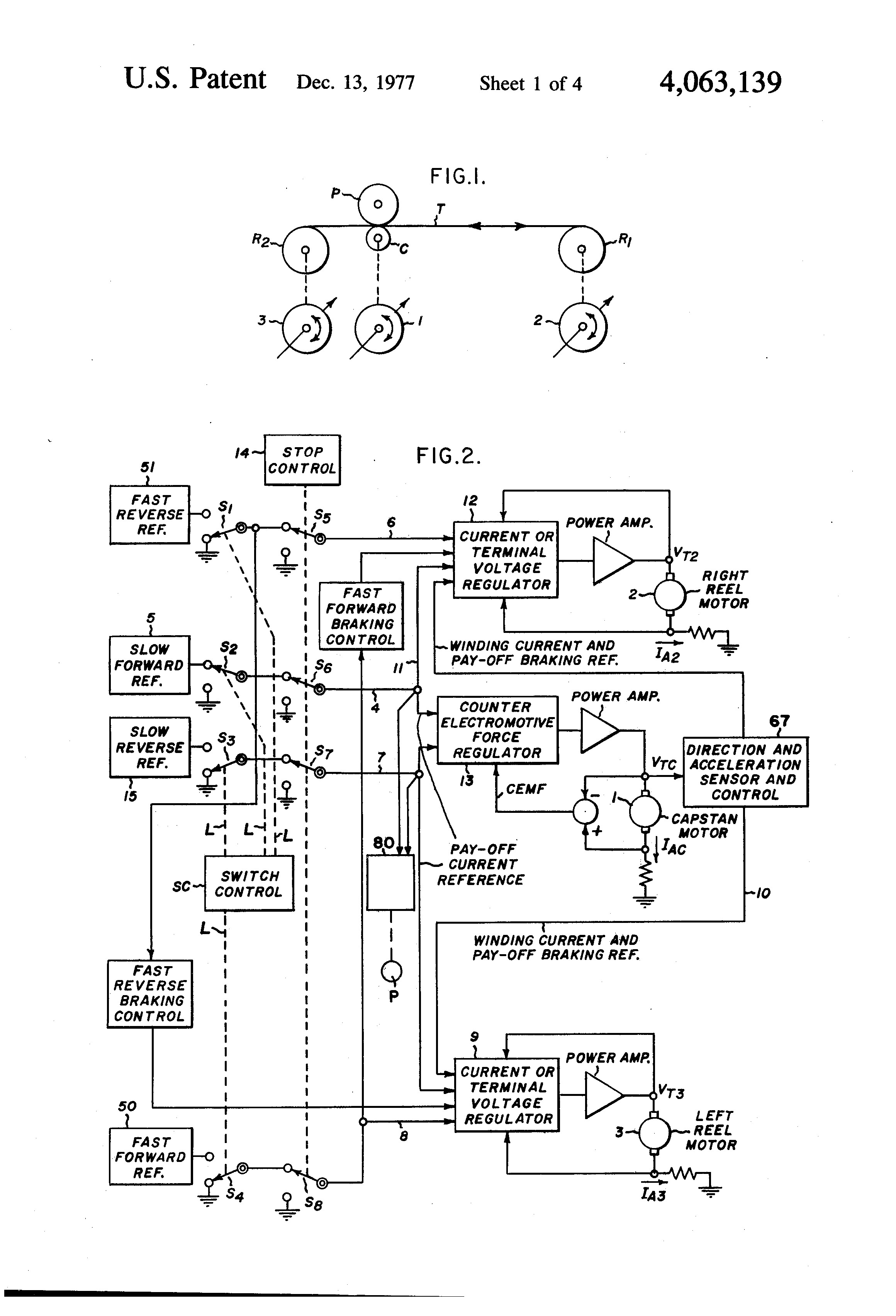 Schematic Of Rc Electric Motor Circuit Us A Tape Drive Motor Control Circuit Google Patents Of Schematic Of Rc Electric Motor Circuit