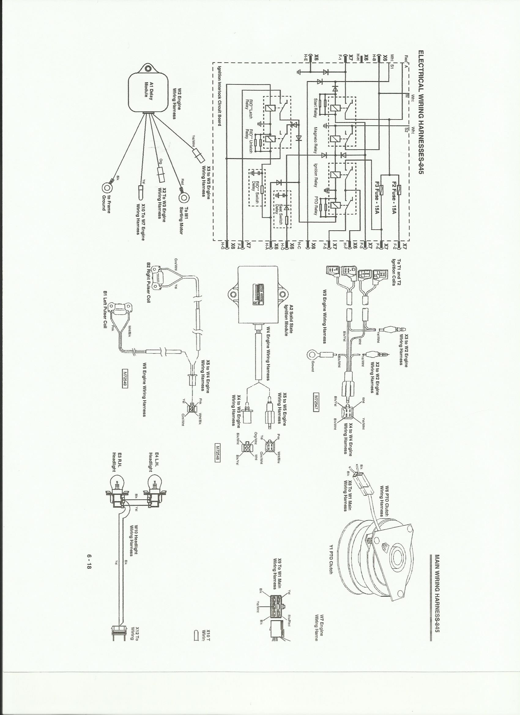 Schematics On A 345 John Deere