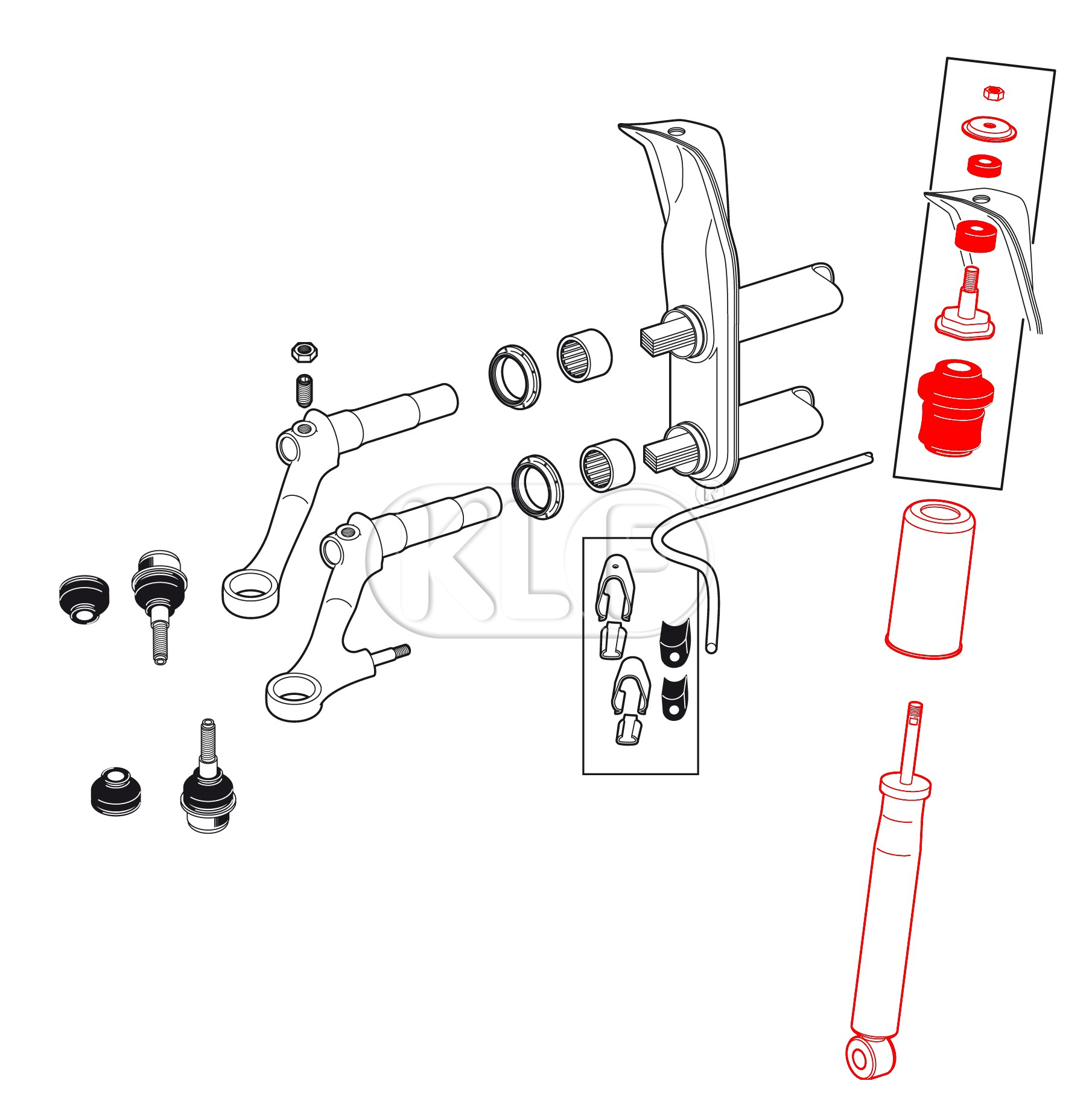 Shock Absorbers Diagram Shock Absorber Front with Dust Boot and Mounting Kit Year 8 65 On Not 1302 1303 Of Shock Absorbers Diagram