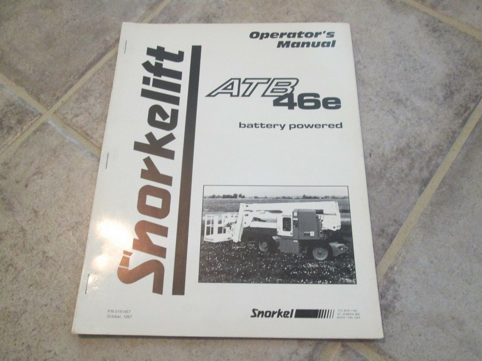 Snorkel Parts Manual atb-33e Dealer Snorkel atb 46e Boom Lift Operator S Manual Good Snorkelift Manual atb46e 1997 Of Snorkel Parts Manual atb-33e Dealer