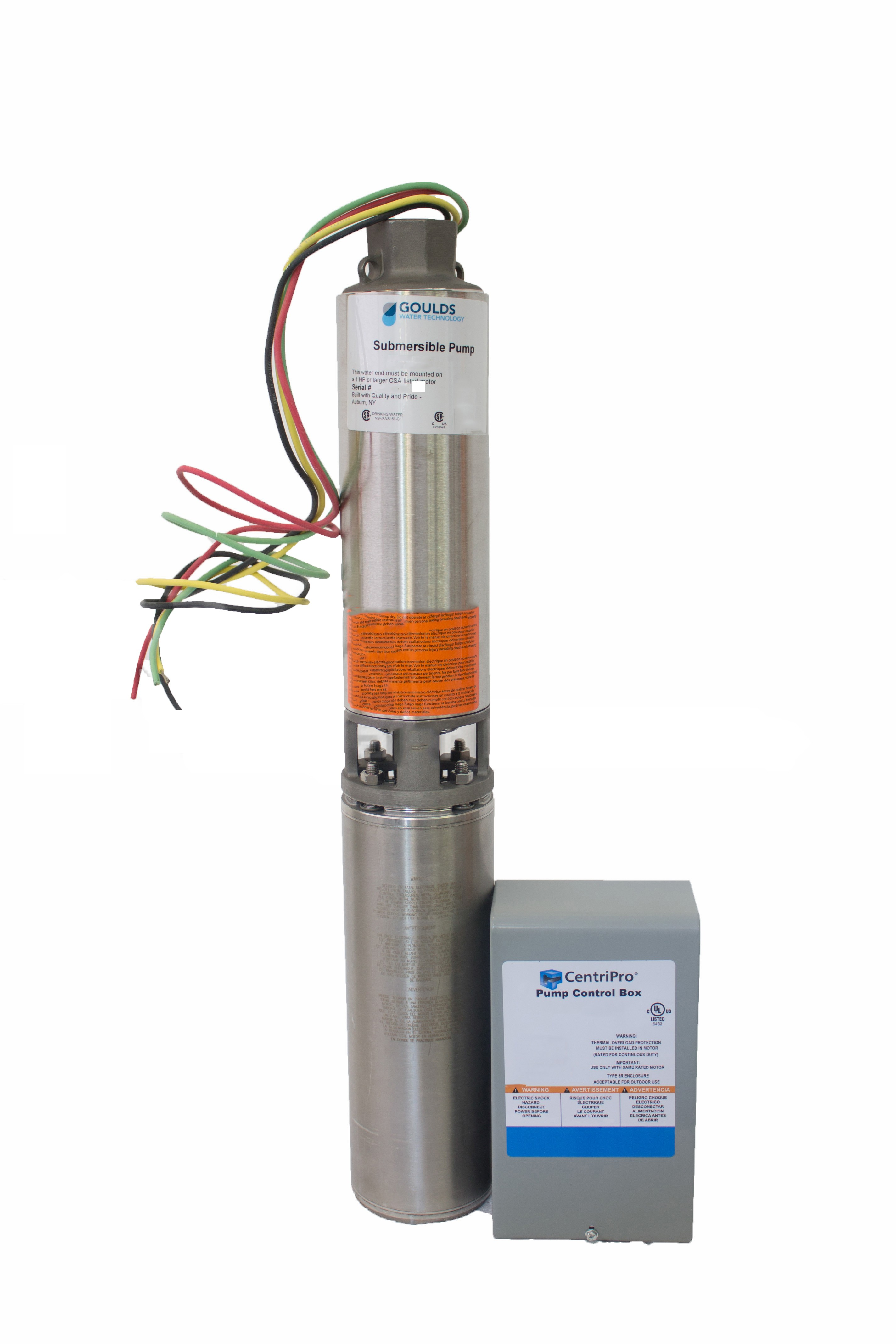 Submersible Pump Control Box Wiring Goulds 10gs Rc 10gpm 1 2hp 115v 3 Wire Submersible Well Of Submersible Pump Control Box Wiring